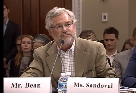 A screenshot from the Oversight Hearing video