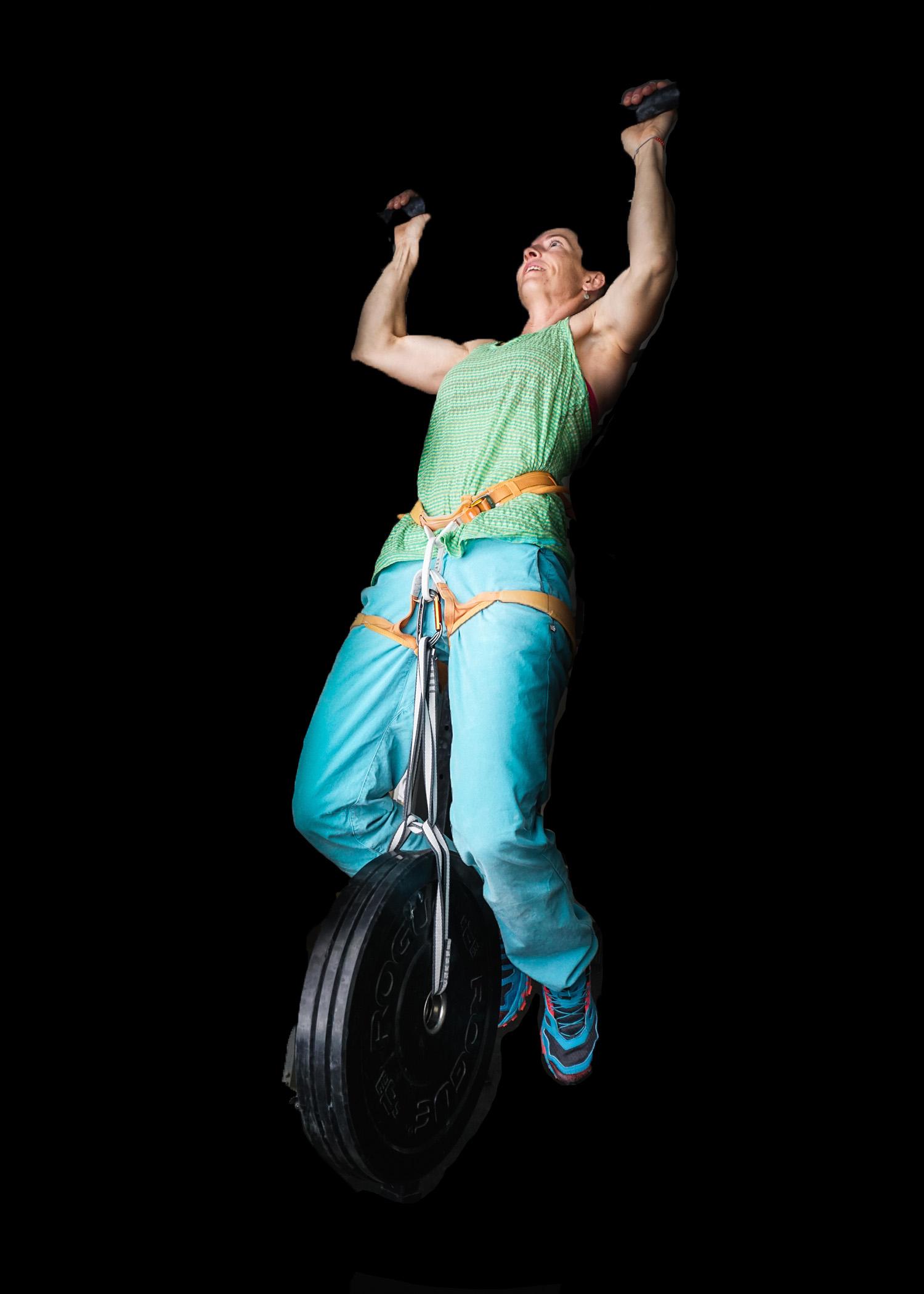woman climber strength training