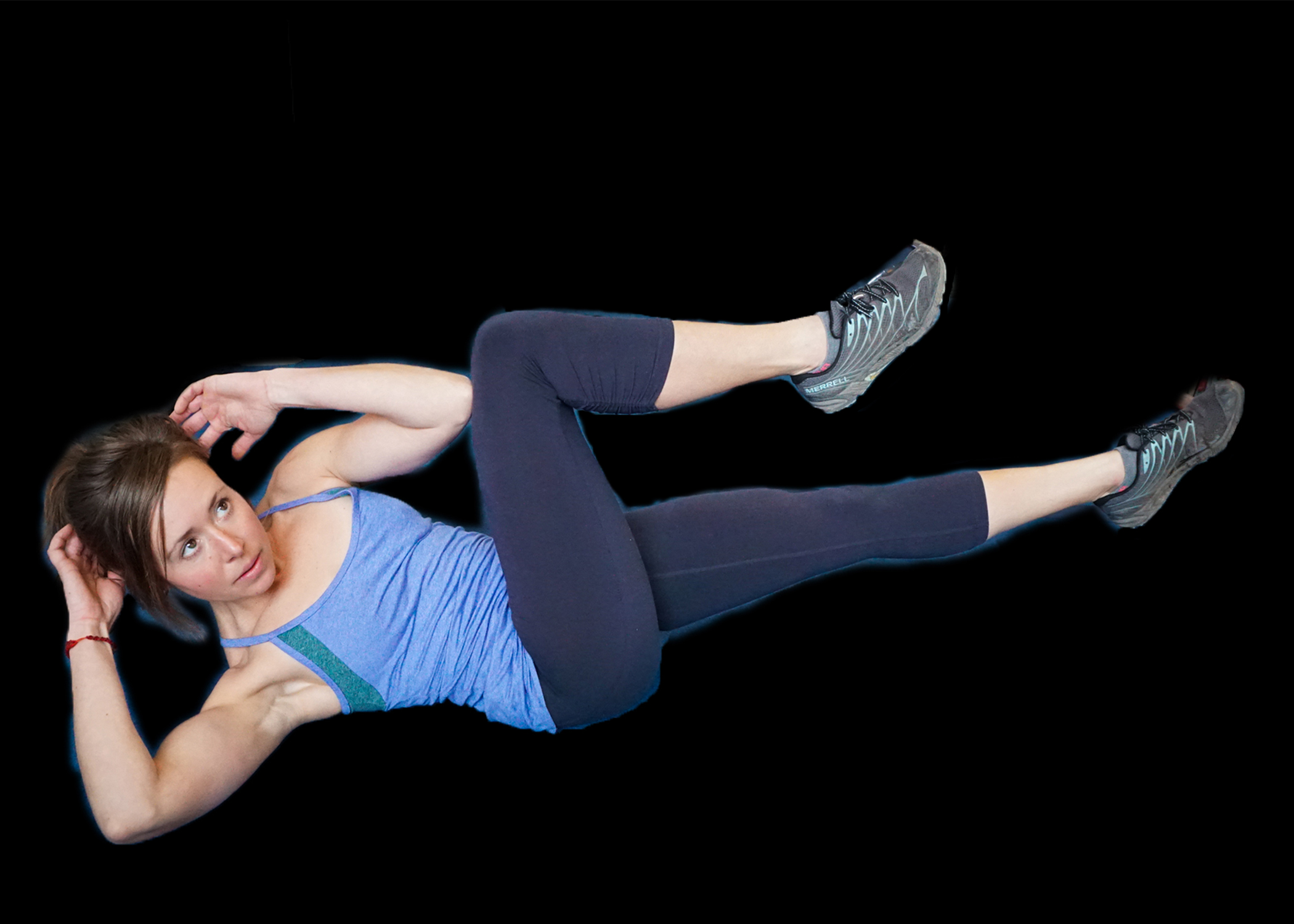 strong outdoor women training