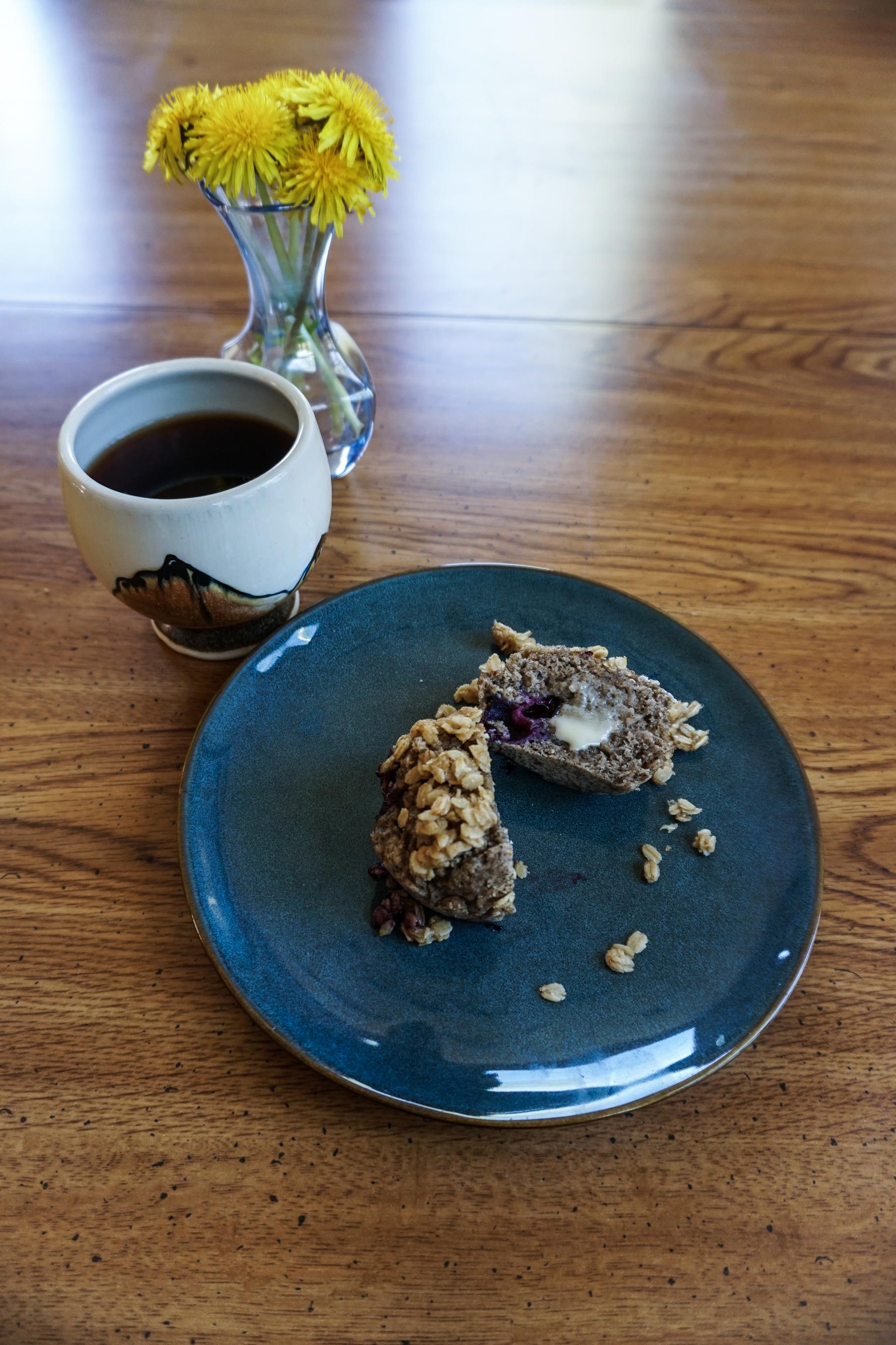 easy breakfast muffins buckwheat blueberries healthy