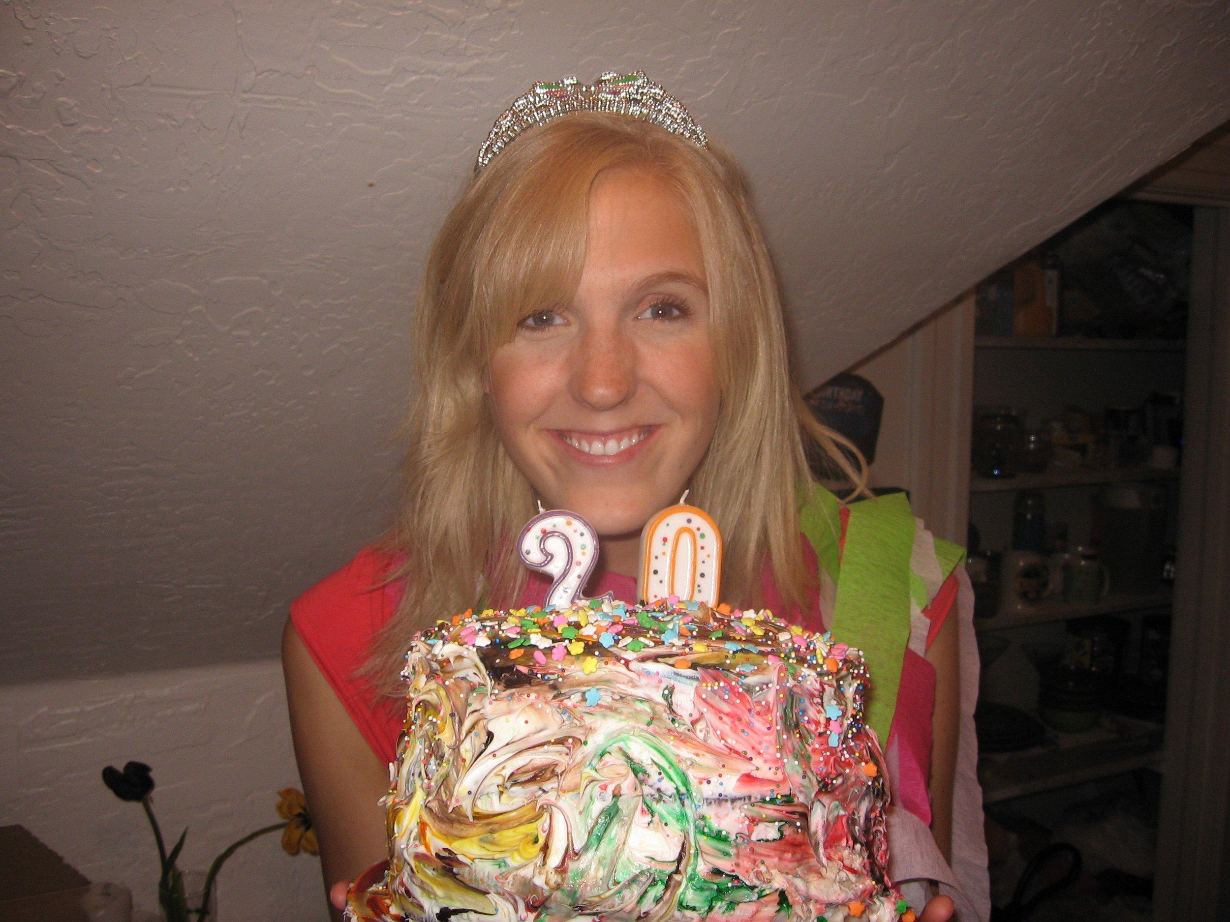 20th birthday cake.