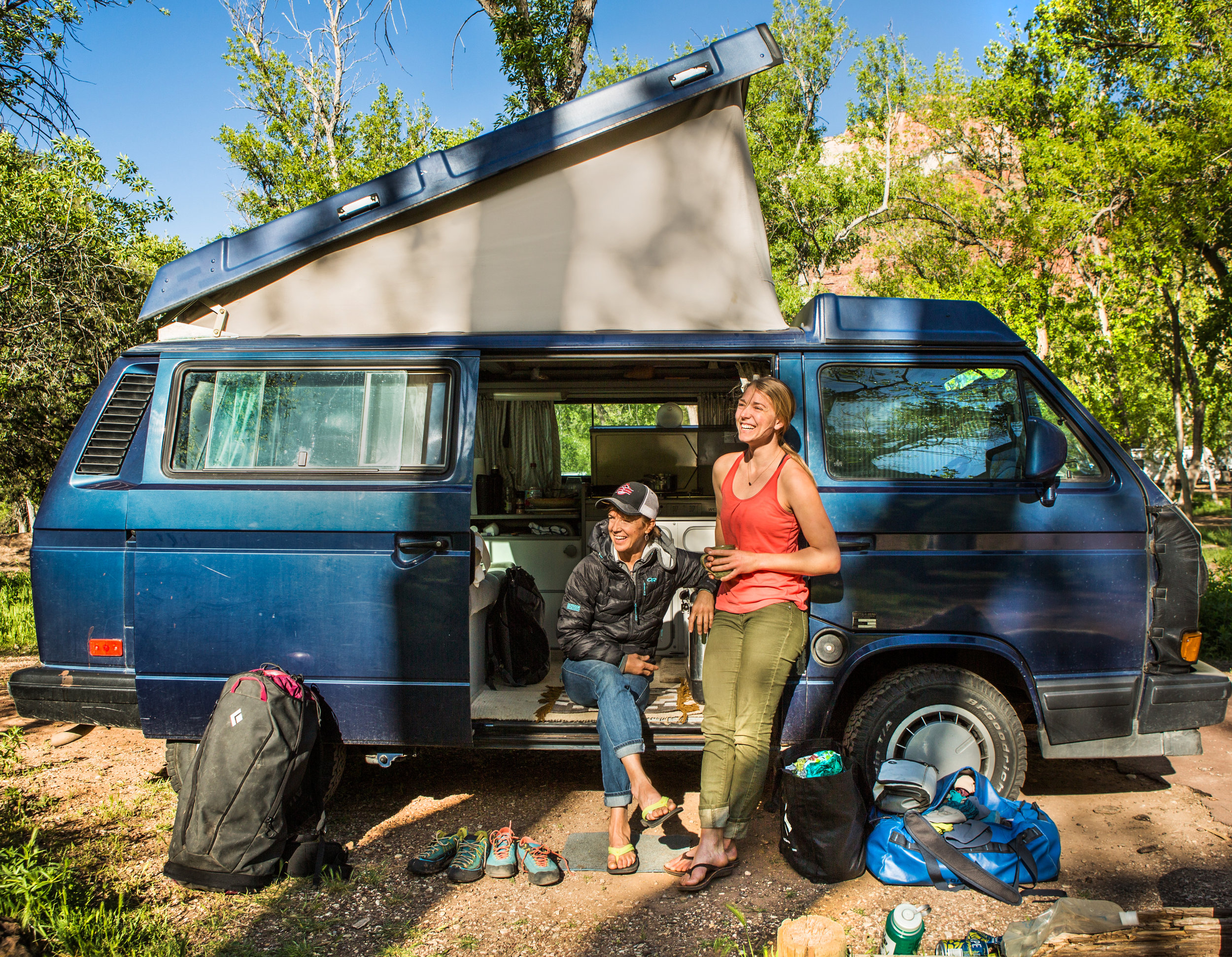 Jeannie Wall outdoors vanlife