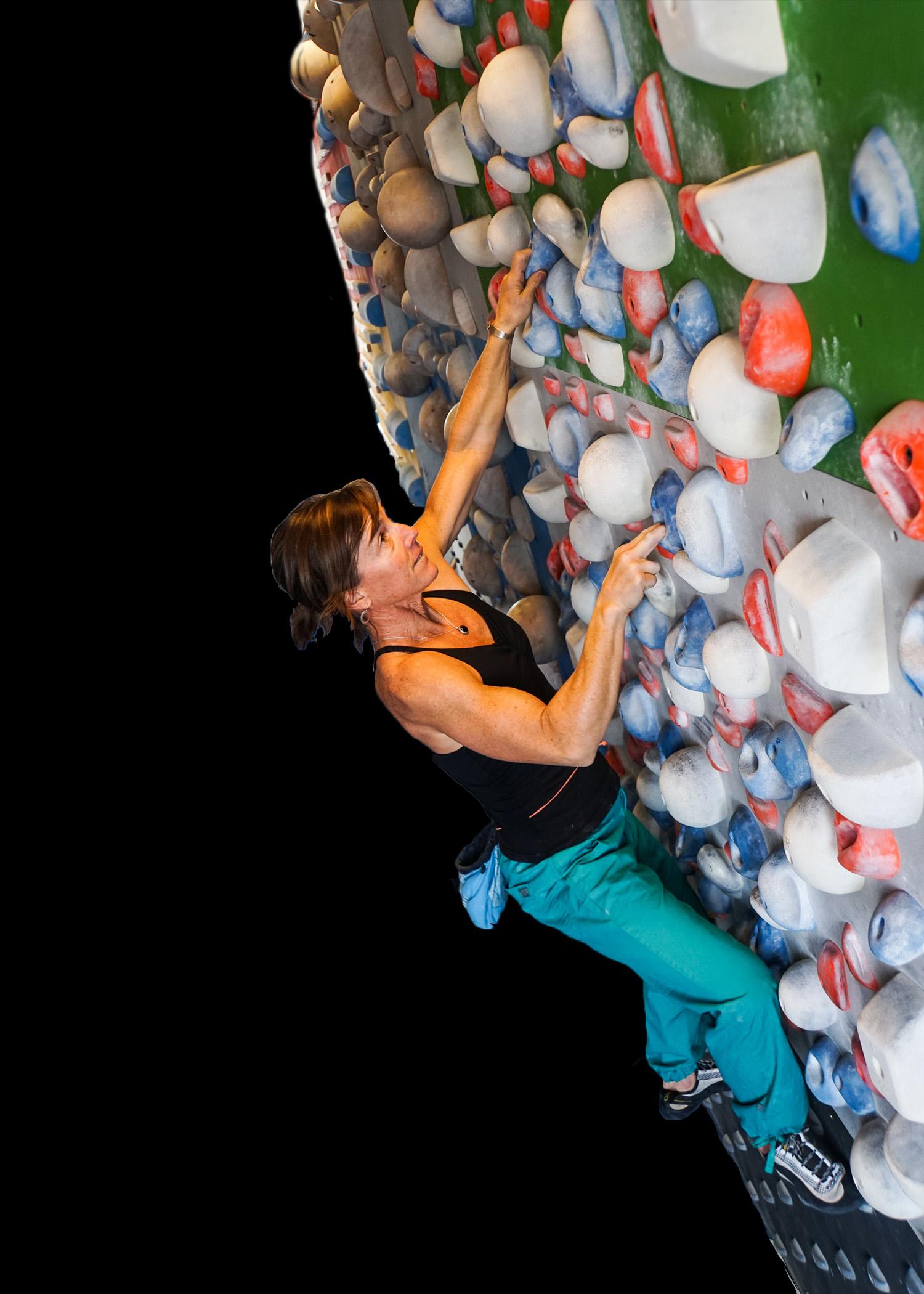 Strong women climbing training system wall Montana