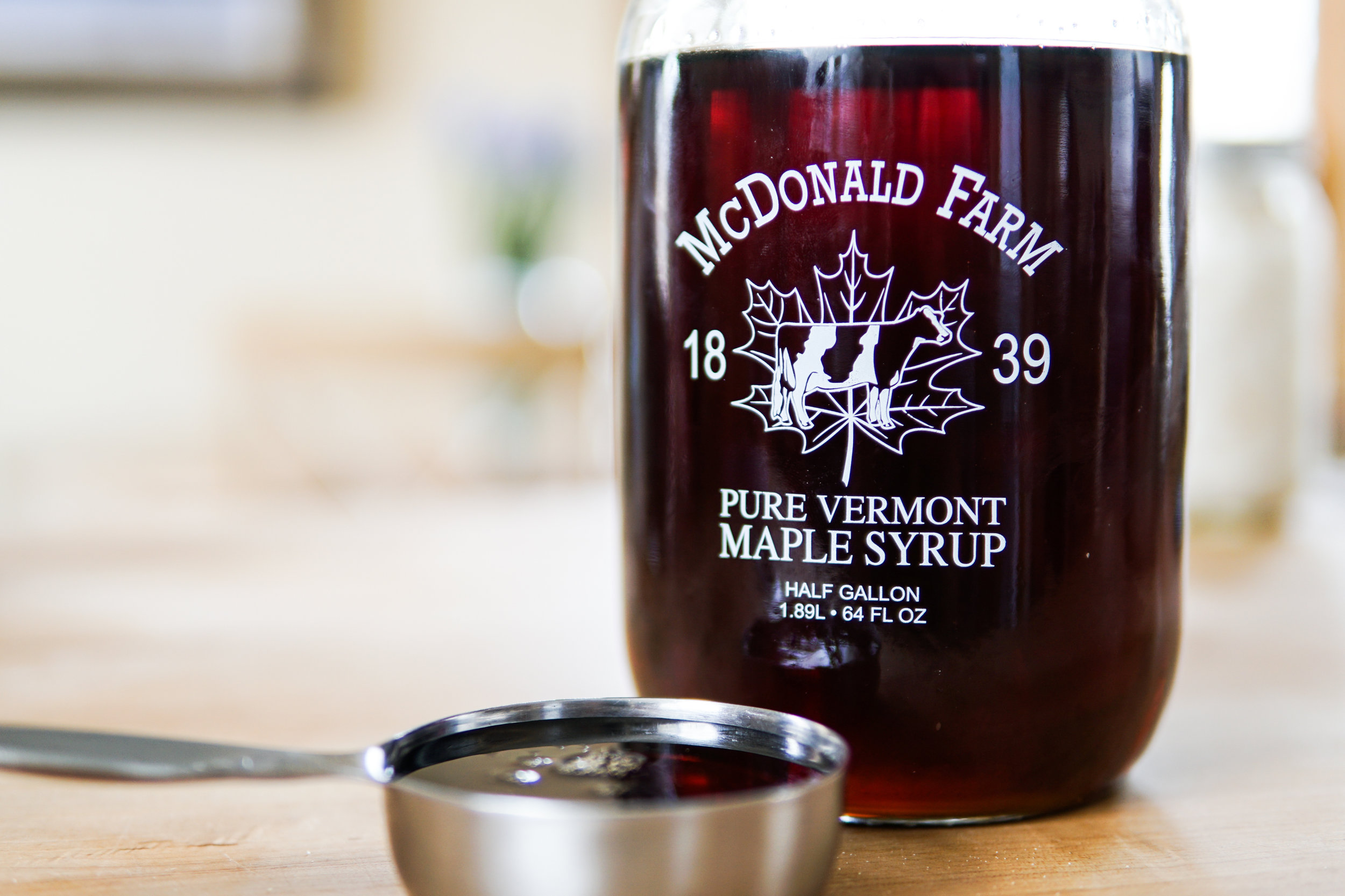 Okay. A LATTA maple syrup. (Thanks, Katherine, for this jug of sweet, sweet nectar of the gods.)