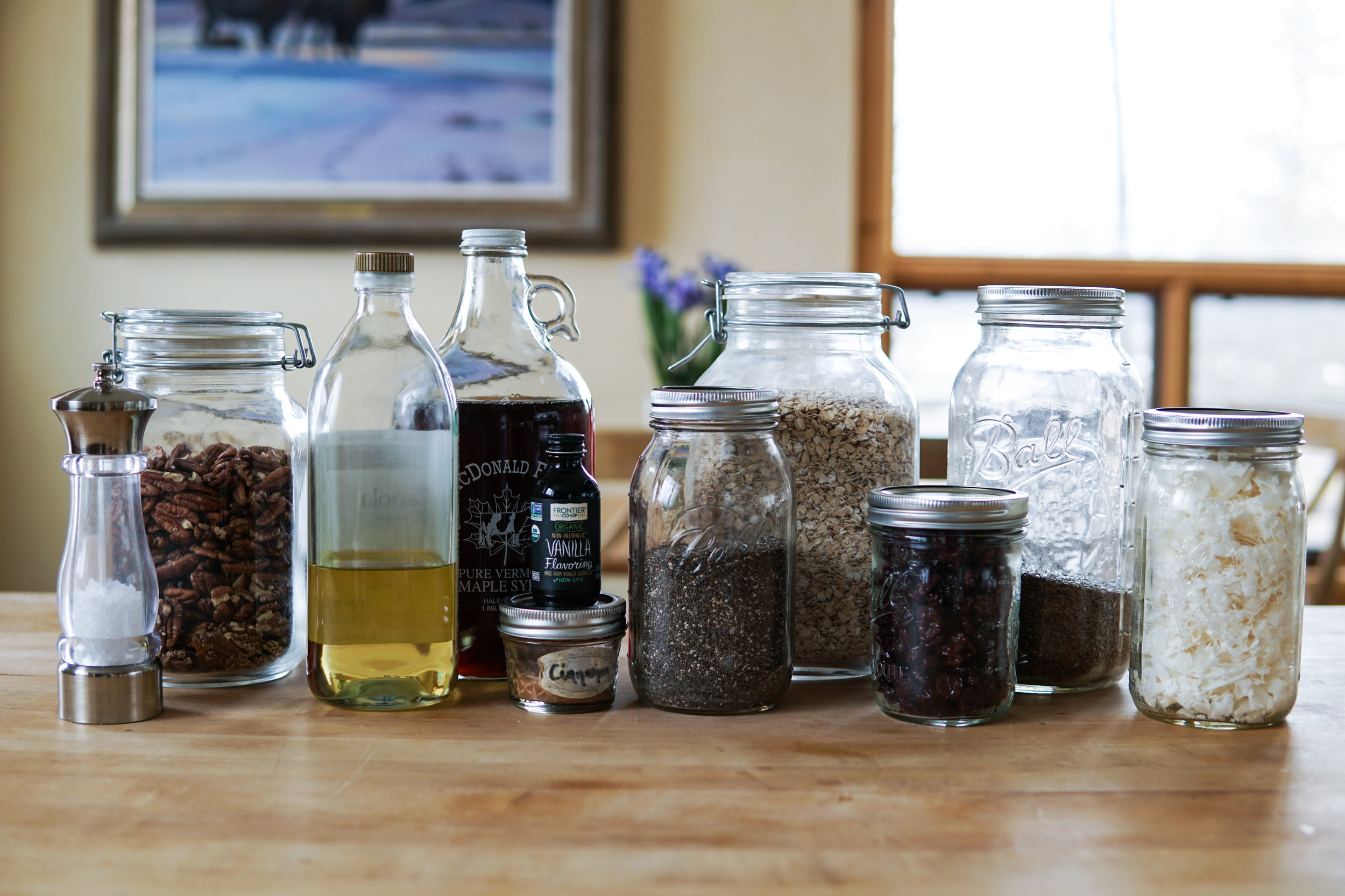 Granola ingredients simple easy delicious healthy