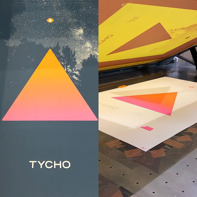 #splitfountain #screenprintedposter #tycho @fillmoredetroit @speedball_art @frenchpaperco