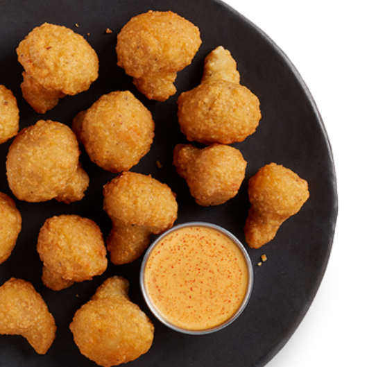Pan of Breaded Mushrooms - Pan of Breaded Mushrooms. Comes with 6 oz Chili Ranch and Buttermilk Ranch Dipping Sauces3 Pounds: 34.95Vegetarian.