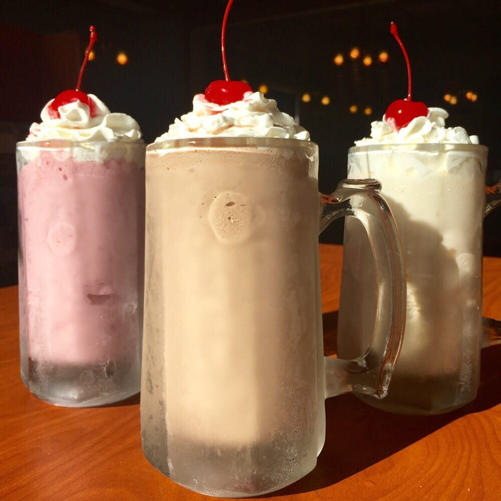 Milkshake Party - Everyone loves a milkshake! Treat your group to a Milkshake Party. Shakes are 16 oz in the flavor of your choice with whipped cream and cherries on the side.Flavors: Chocolate, Strawberry, Oreo, Vanilla10 Shakes: 35.0015 Shakes: 51.0020 Shakes: 66.00Click below for larger group pricing.