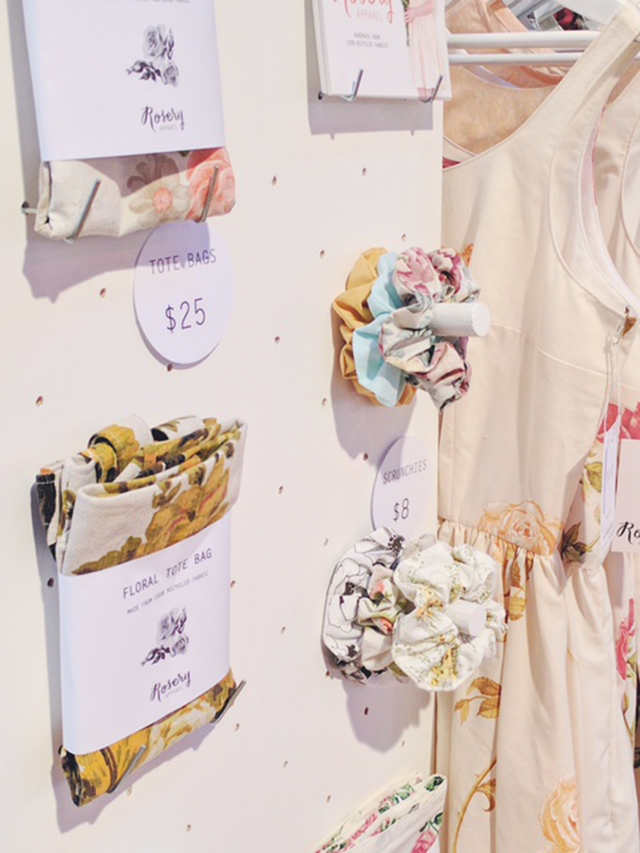 handmade tote bags and scrunchies