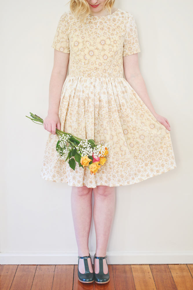 rosery apparel lacy dress peach floral