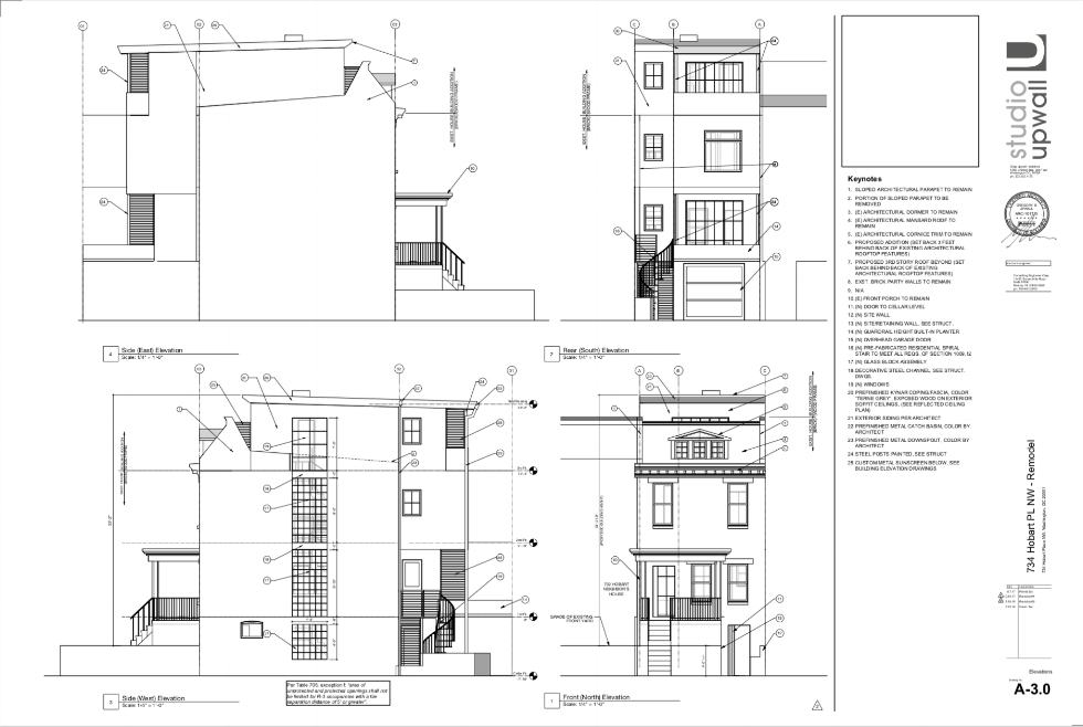A sheet from the Construction Drawing Set