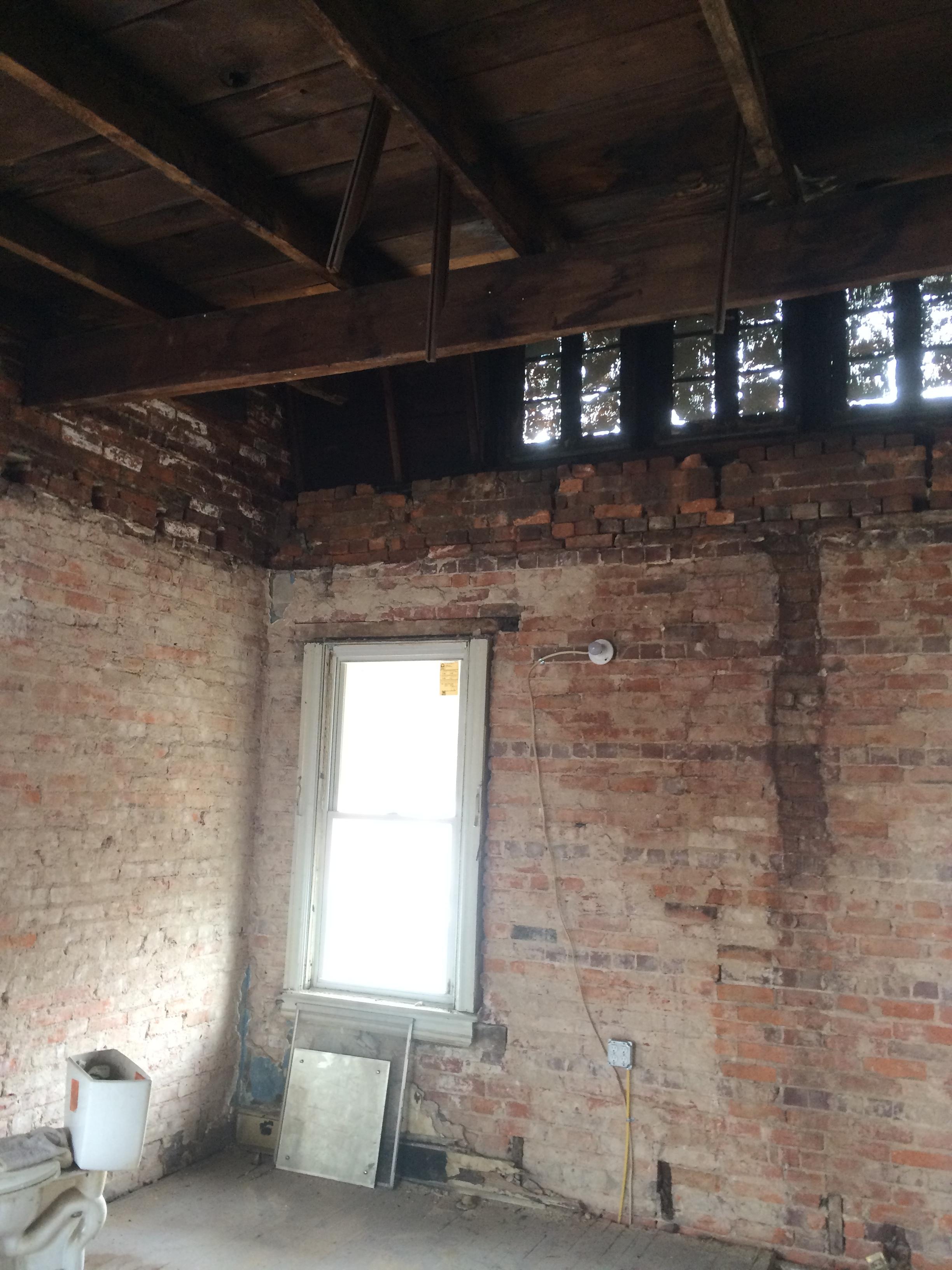 2nd floor after interior demolition