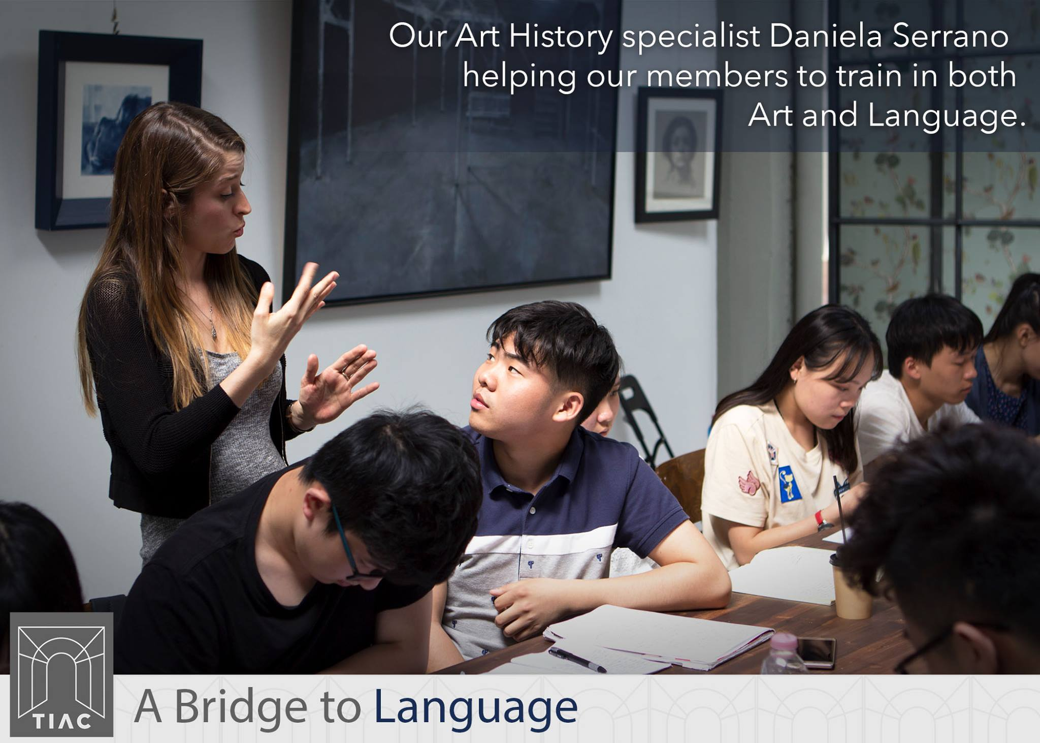 Daniella Serrano teaches Art History in Italian to exchange students from China, helping them to prepare for entry to Italian university