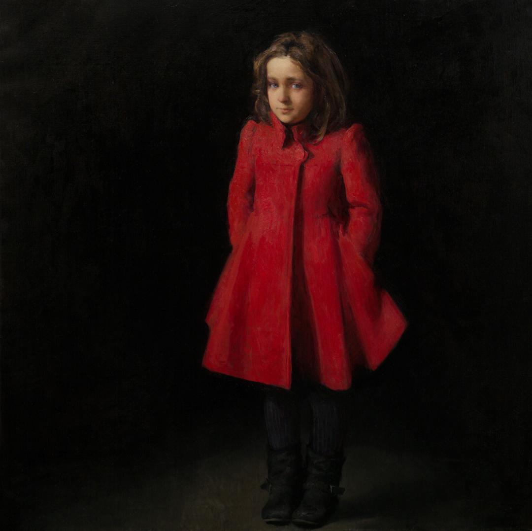 Eva, Oil on canvas 110x110cm