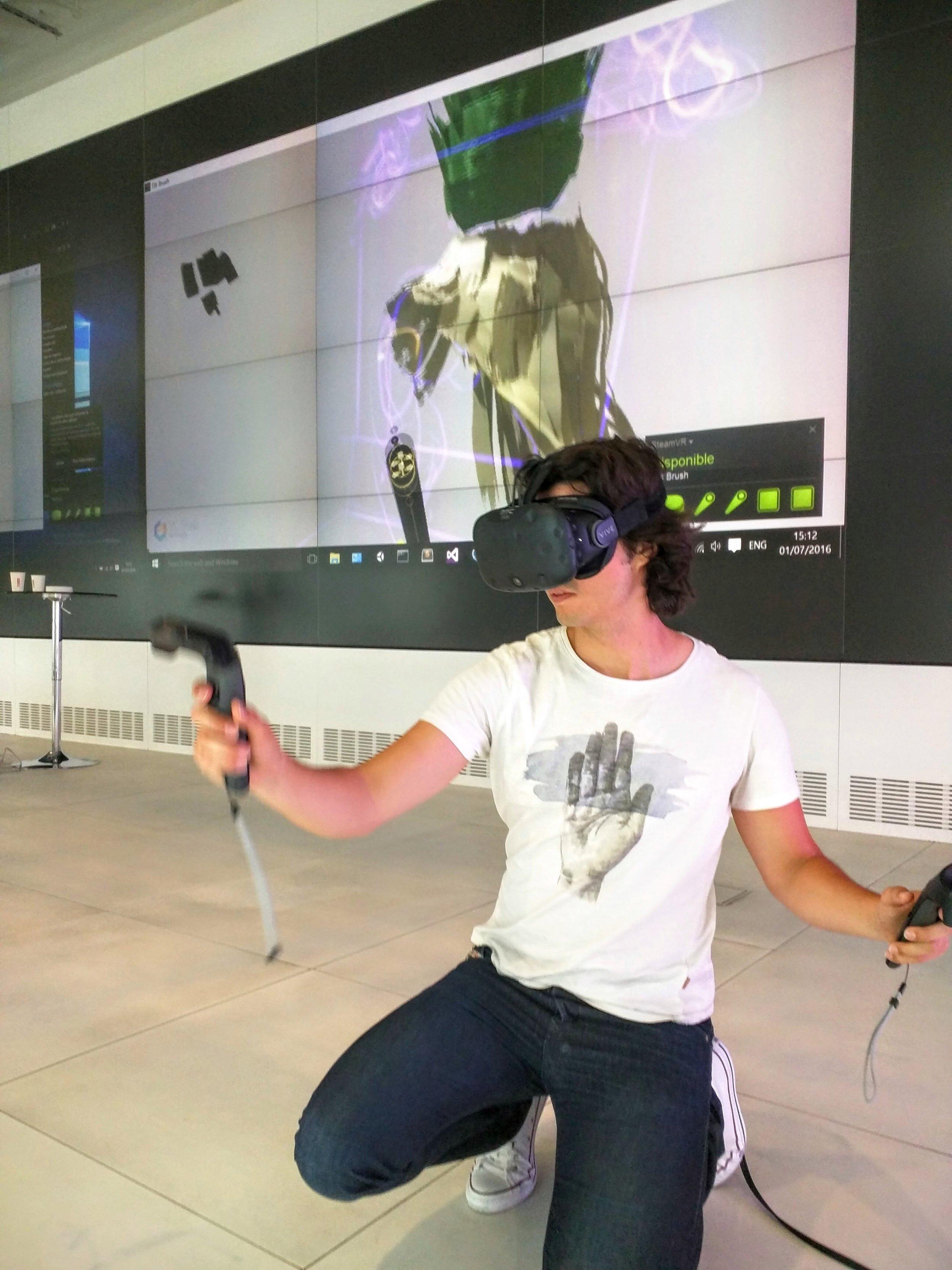 Miguel Mayher painting in Virtual Reality as winner of Artist Residency at the Google Cultural Insitute in Paris.jpg