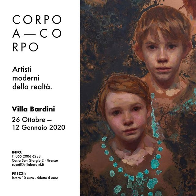 "Opening on October 26th and on view through January 12th, ""Corpo a Corpo"" at Villa Bardini in Florence, Italy (@VillaBardini) will be an exhibition of works by contemporary figurative artists from 12 countries. Supported by Fondazione CR Firenze (@FondazioneCRFirenze). or ""CORPO A CORPO"" exhibition opening  October 26th, 2019 – January 12th, 2020 at Villa Bardini Costa San Giorgio 2, Florence ITALY  @fondazionecrfirenze  @the_liettis@katelehman1  @michaelgrimaldi  @dongli_lidong  @gustavsundin  @anastasia_pollard  @eudald_de_juana  @mollyjuddpainter  @agostinoarrivabene  @stevenassael  @danazaltzman  @zoeyfrank  @charlescecilstudios  @ronhicksart  @chubirkosergey  @santocesart  @amayagurpide  @nickalmart  @petervandyck  @grzegorz_gwiazda  @andreasbirath  @travisschlaht  @danielgravesart  @teresaoaxaca  @alessandro_sicioldr  @robertoferri_italianpainter  @eranwebber  @nicolasvsanchez  @sadievaleri  @jordan_sokol  @maudiebradyart  @michaelkleinpaintings  @giovannigasparro  @golucho_pintor  Ben Fenske  G.Rorris"