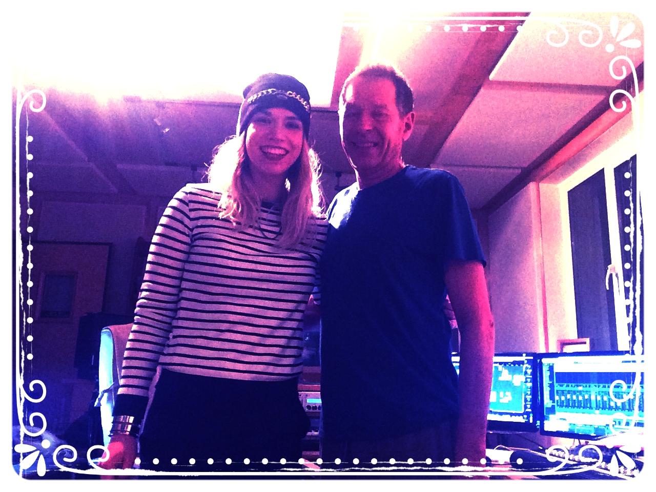 Rob Davis and I in his studio