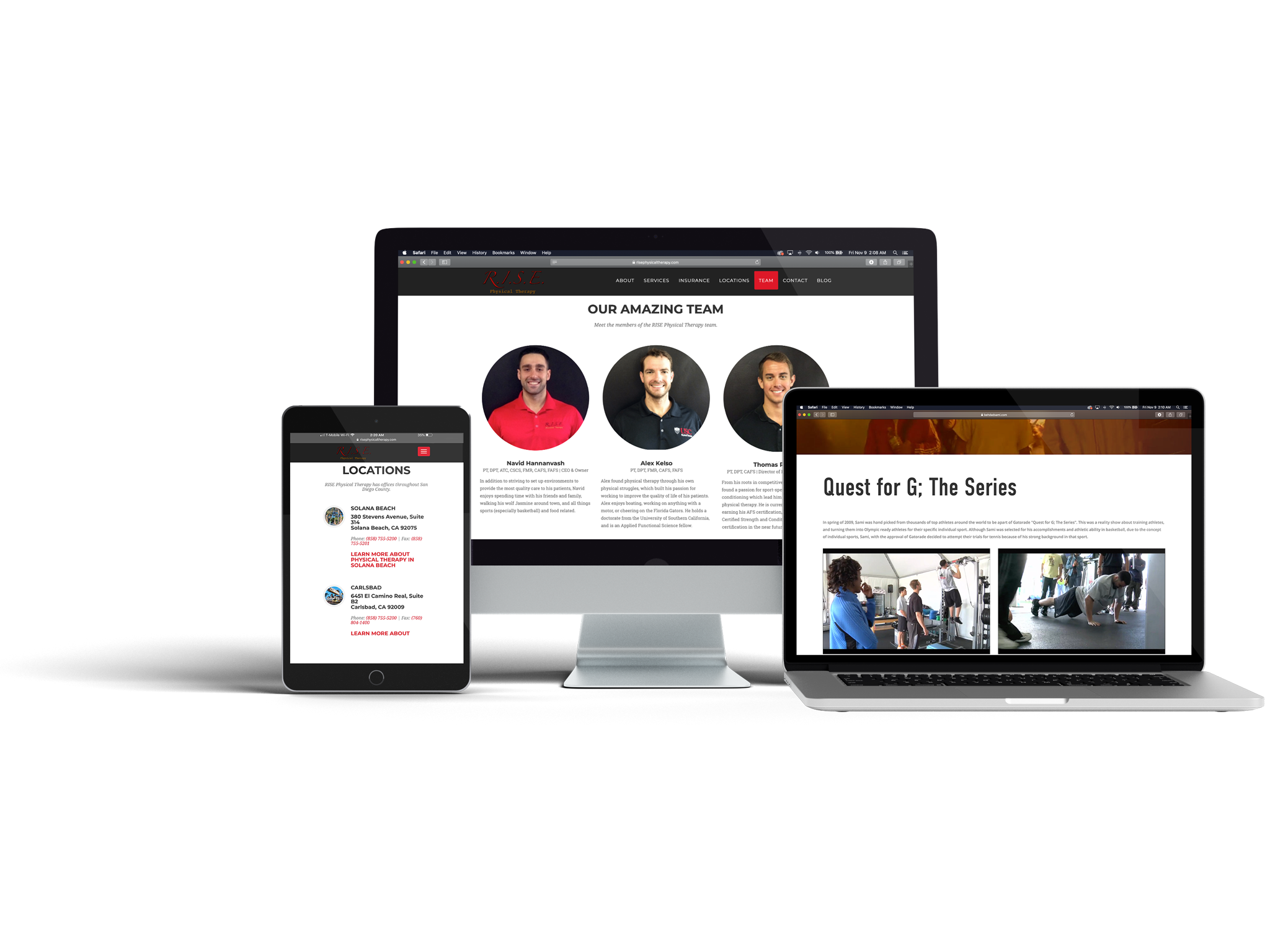 Websites - It's imperative for a website to really connect with each visitor, while still being custom-tailored to each client.