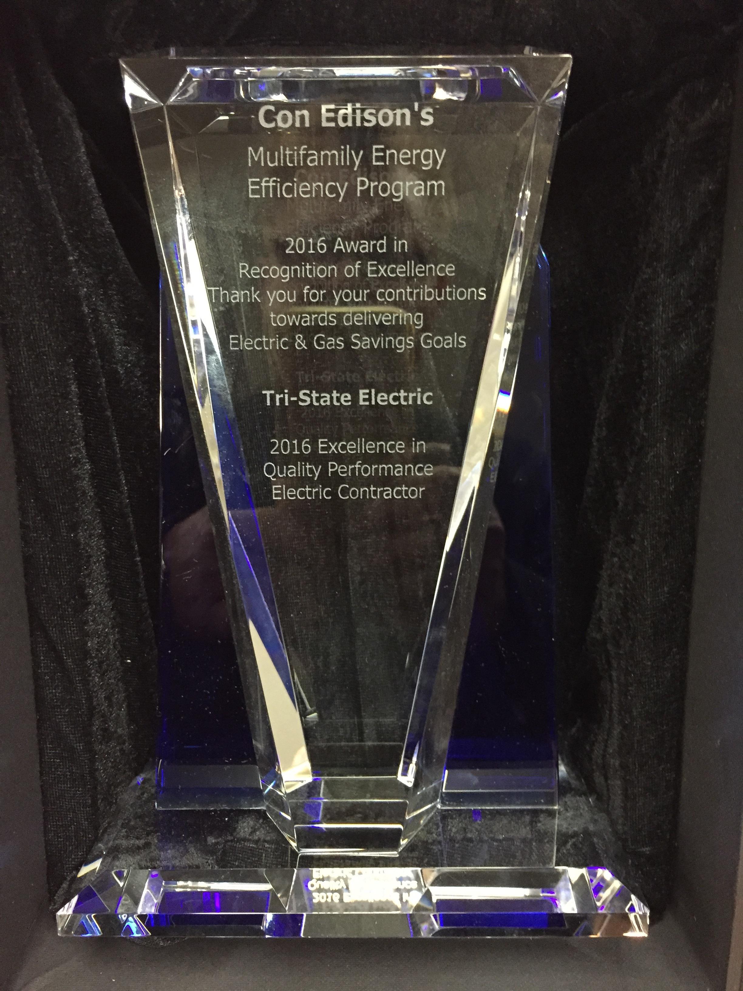 Con Edison MFEEP 2016 Award Winner