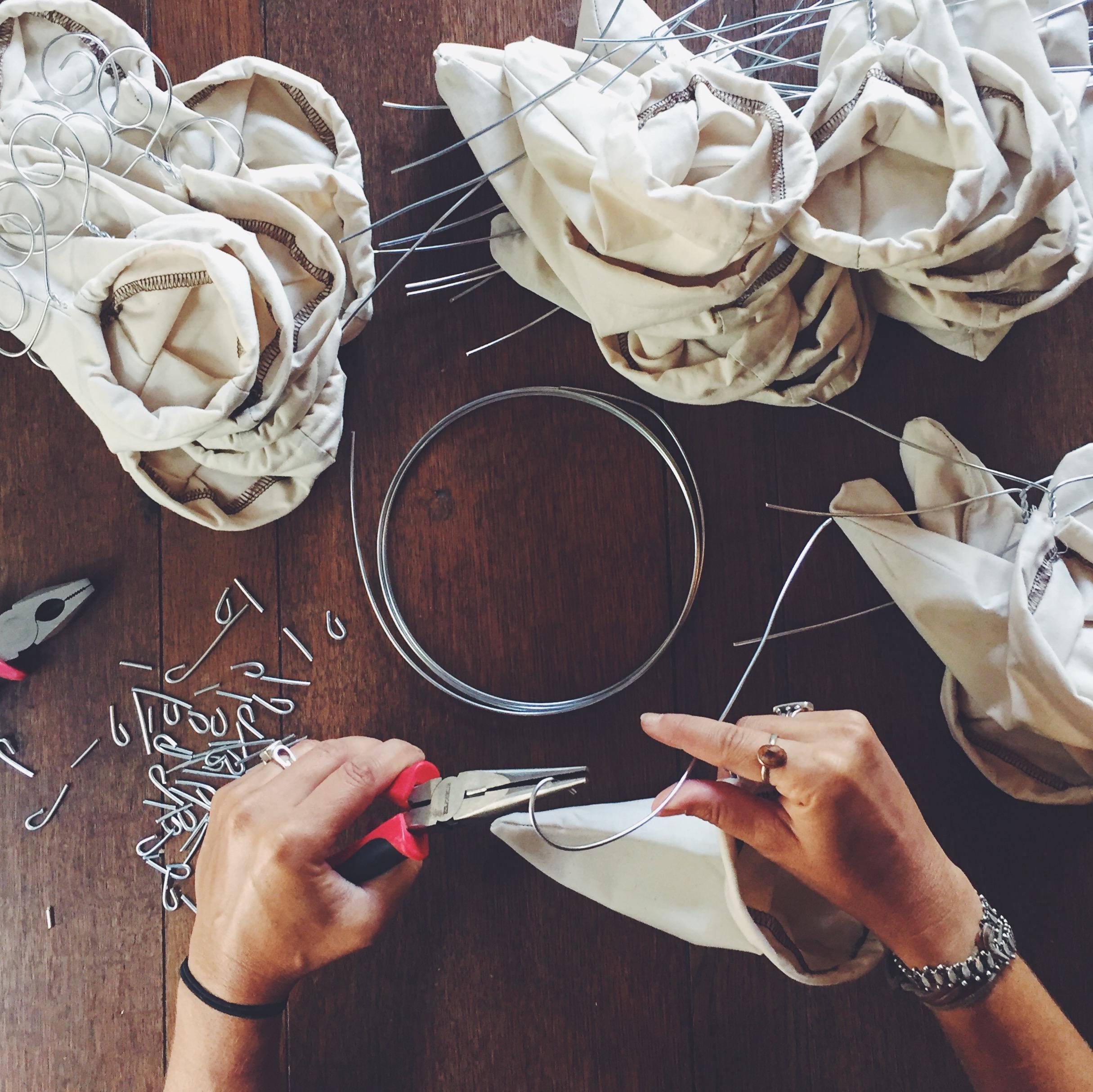 Making our chorreador-inspired travel socks -