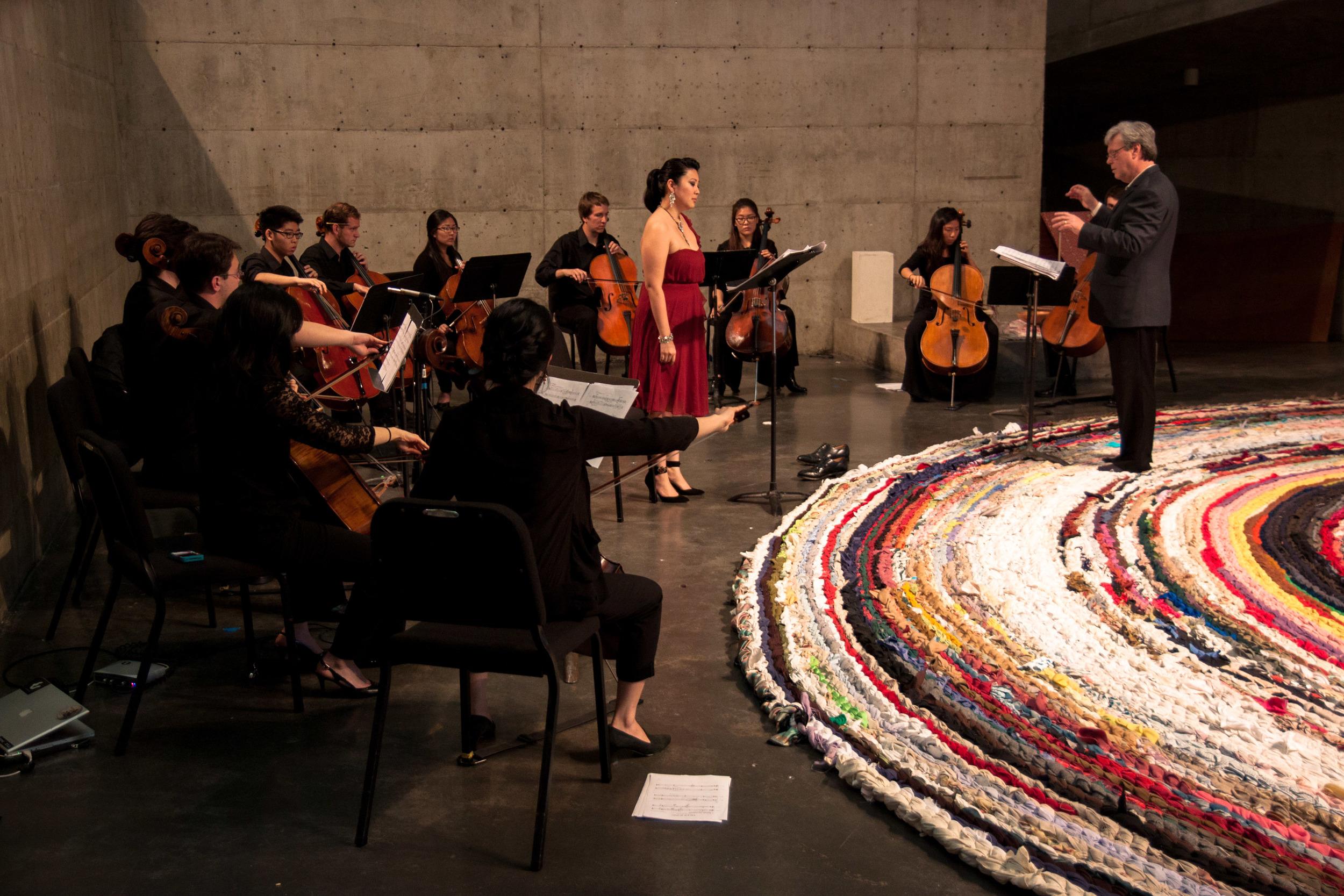 Jared Redmond's  Deep Song  with Celli@Berkeley. David Milnes, conductor. Berkeley Art Museum.