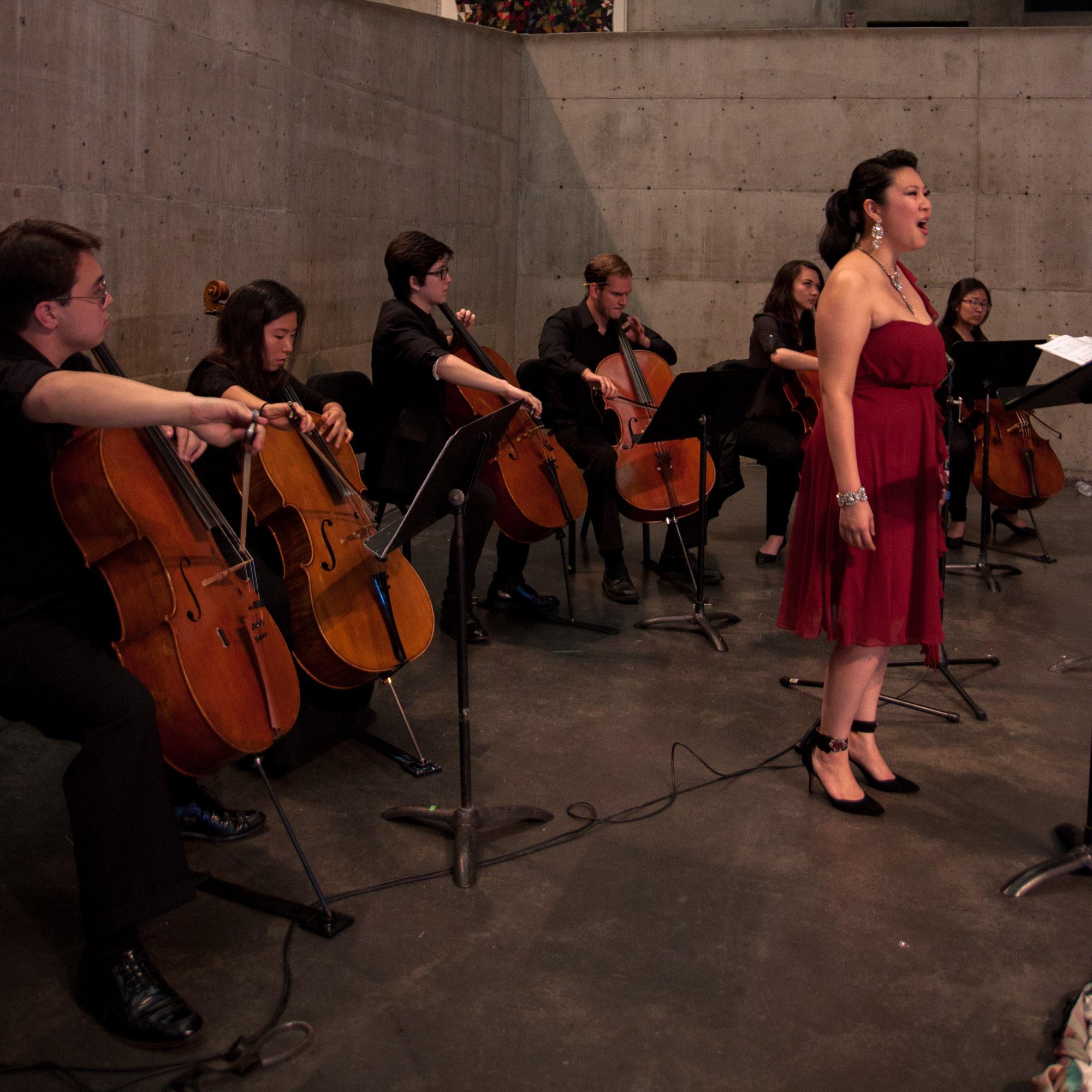 Villa-Lobos' Bachianas Brasileiras no. 5 with Celli@Berkeley. Berkeley Art Museum.