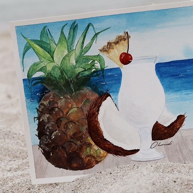 Summer is coming 🥥 In watercolor 🎨