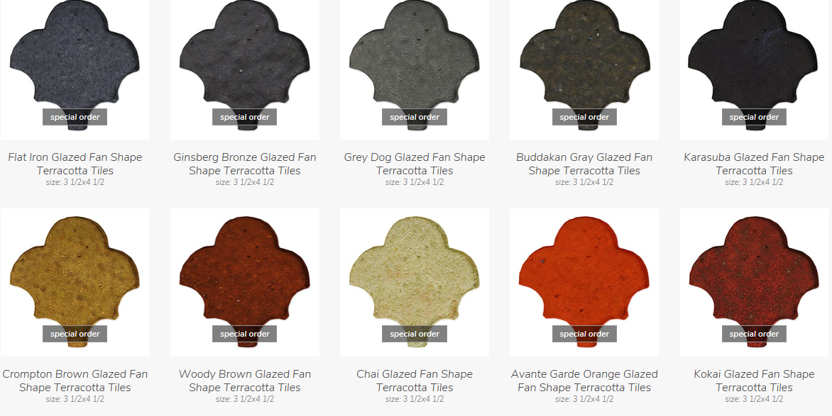 Glazed Fan Shape *Special Order*