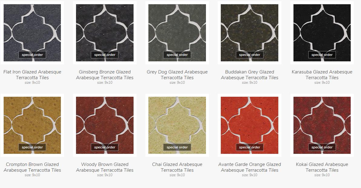Glazed Terracotta Arabesque *Special Order*