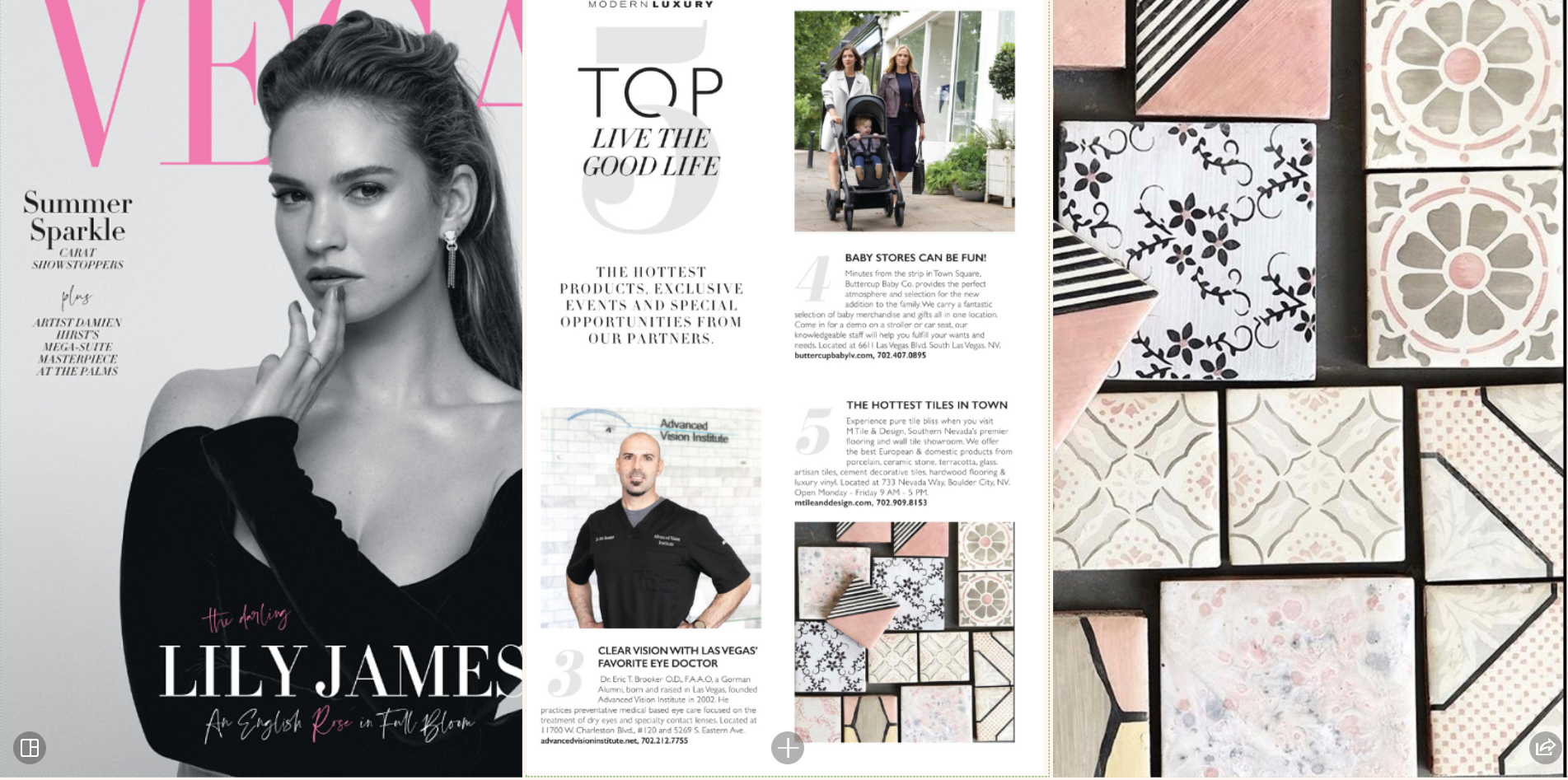 "Modern Luxury Magazine  - ""TOP 5"" Las Vegas  June Issue 2019"