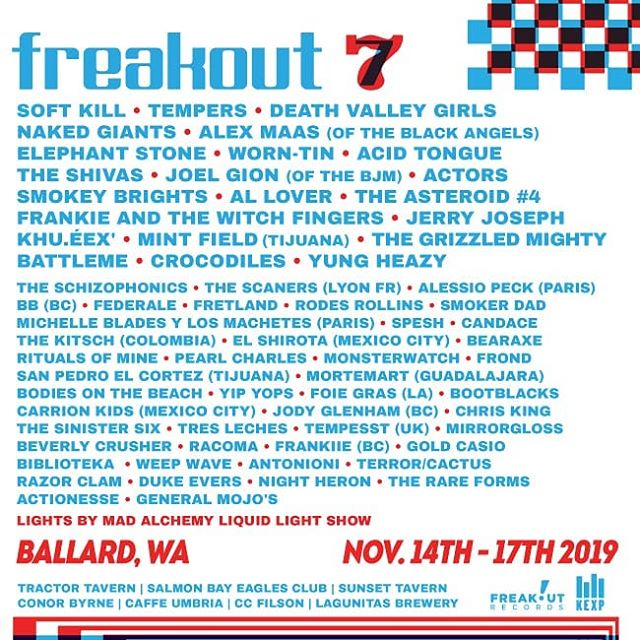 Freakout Fest 7 is looking lit! Super rad to see some many of our friends on the lineup. Get your tickets while you can!