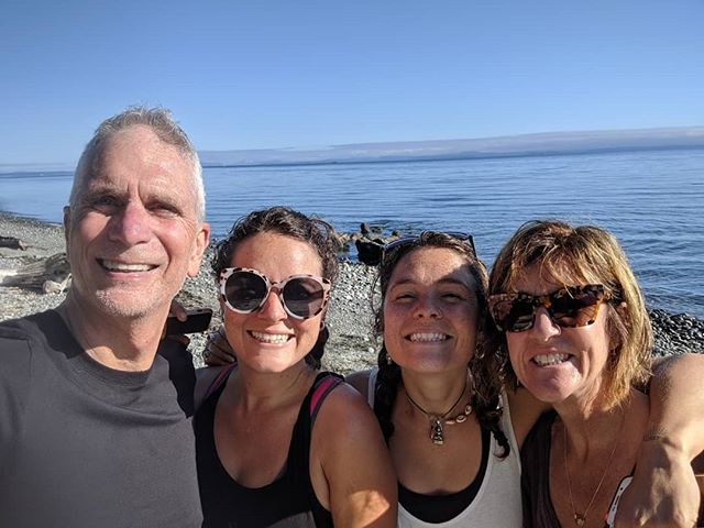 Stunning scenery, hiking, swimming, snorkeling with salmon, MTBing, and fabulous times gourmet cooking and camping with the twinnies 😍😍😍
