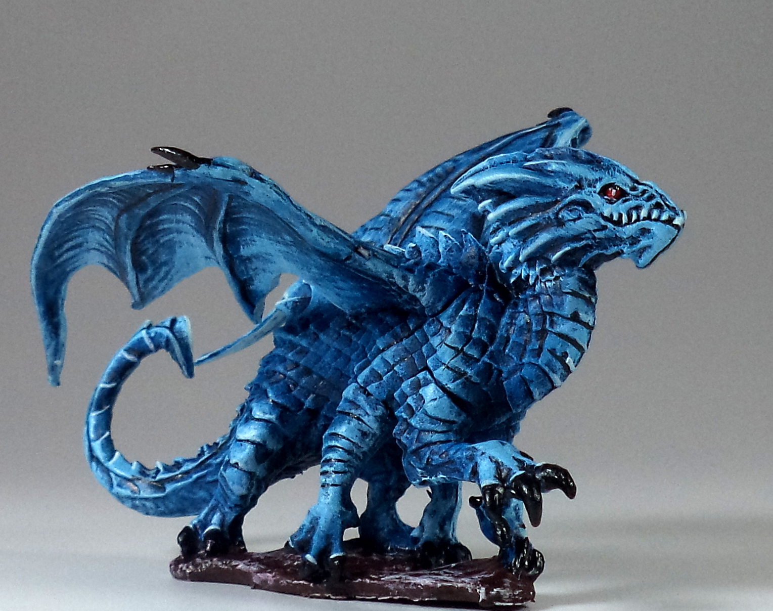 Dracolisk - RPR 773379 - Reaper - Paintedfigs - D&D  DnD - Blue Dragon (1).JPG