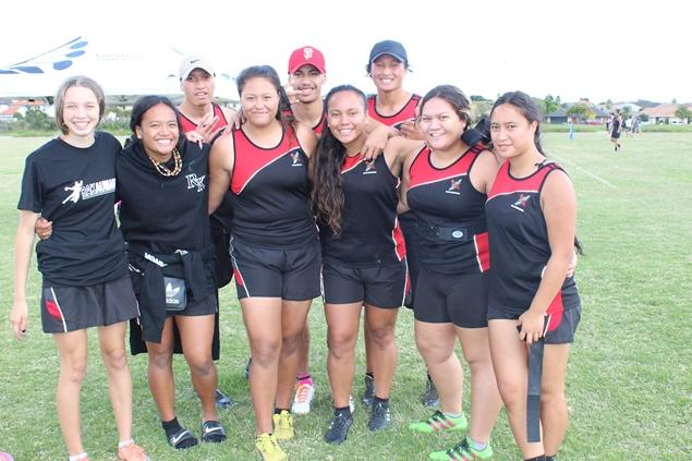 Students from Te Wharekura o Rakaumangamanga, 2017 Ki o Rahi Nationals