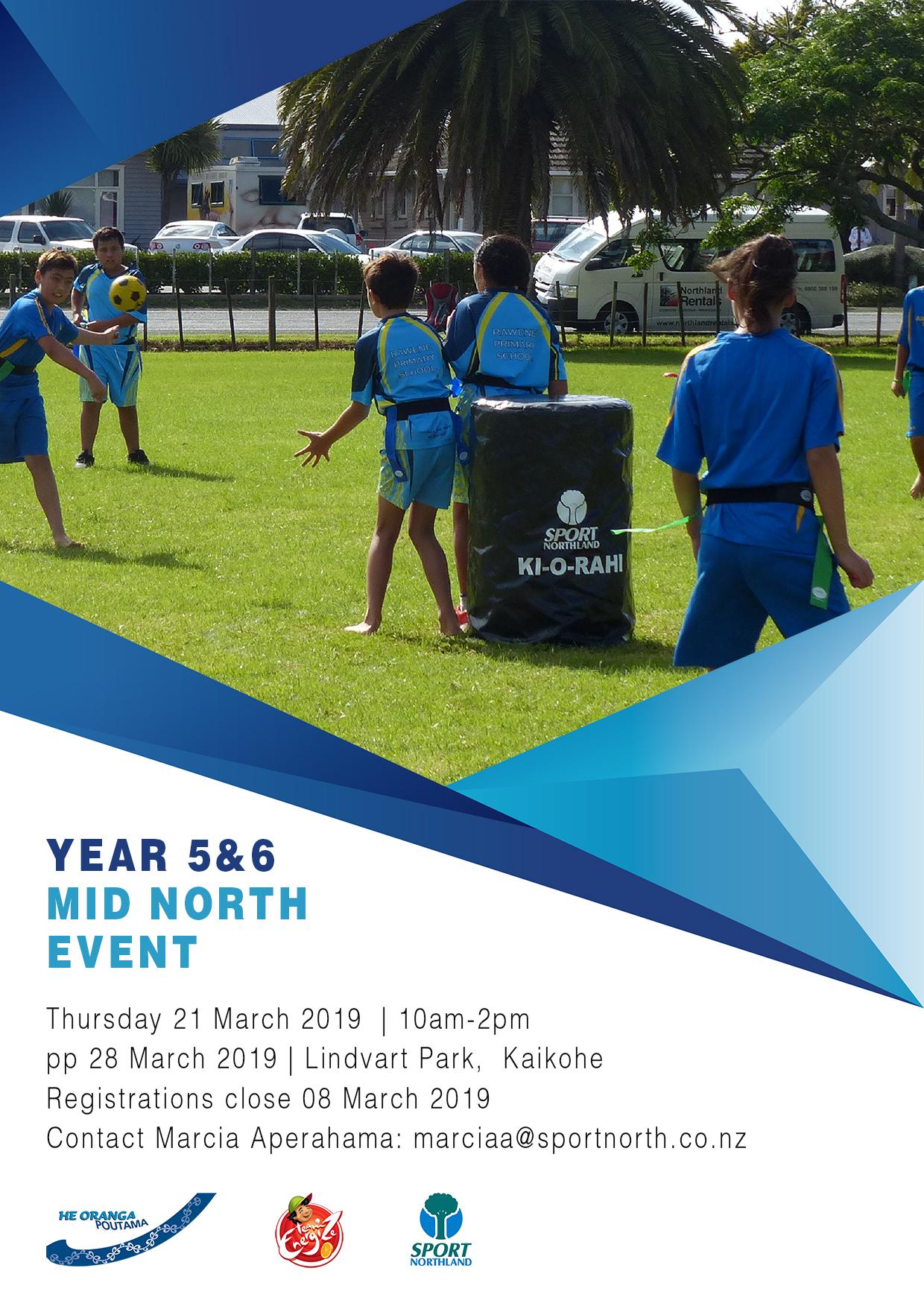 Year 5 & 6 Mid Northland Ki o Rahi Tournament 2019