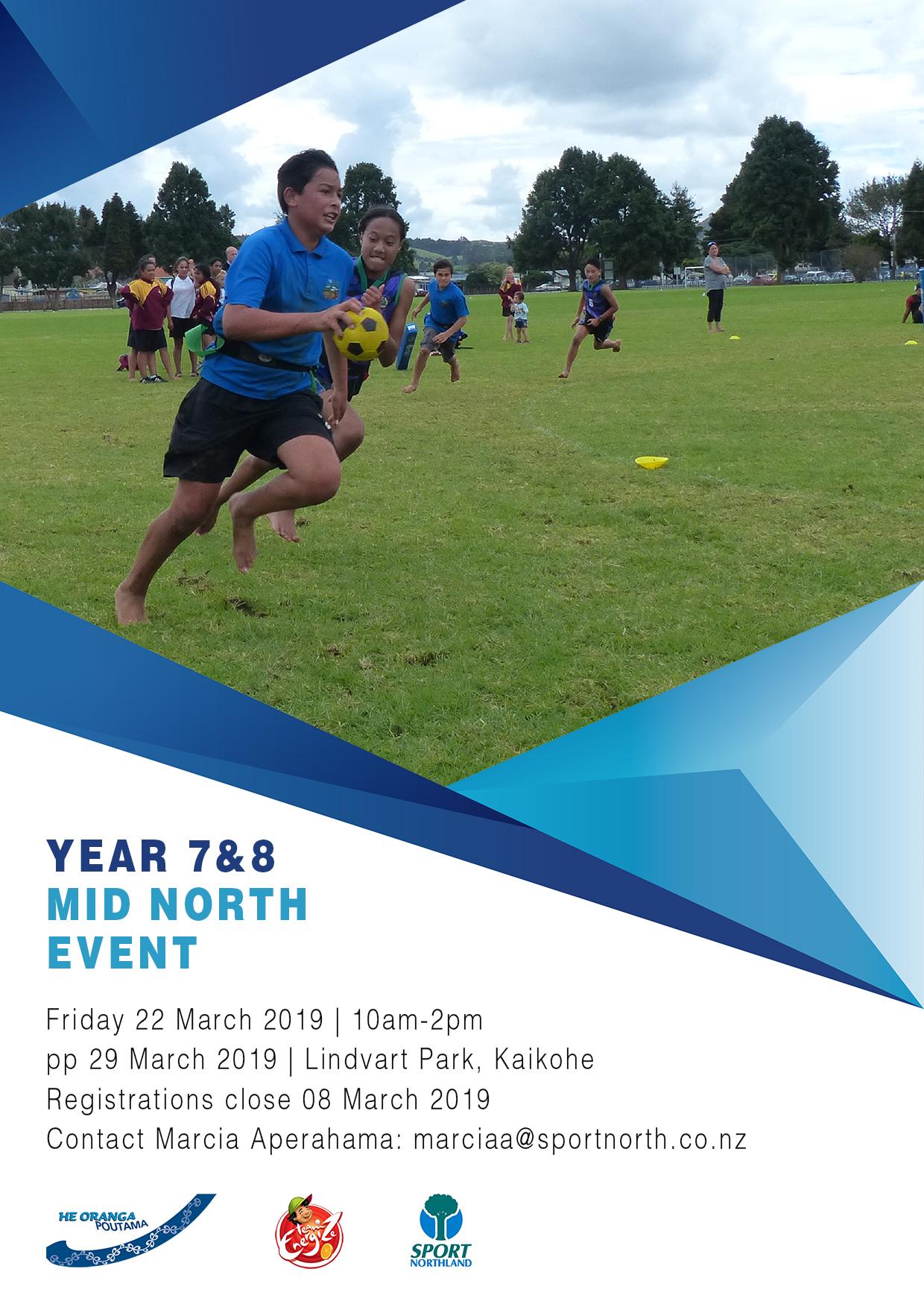 Year 7 & 8 Mid Northland Ki o Rahi Tournament 2019