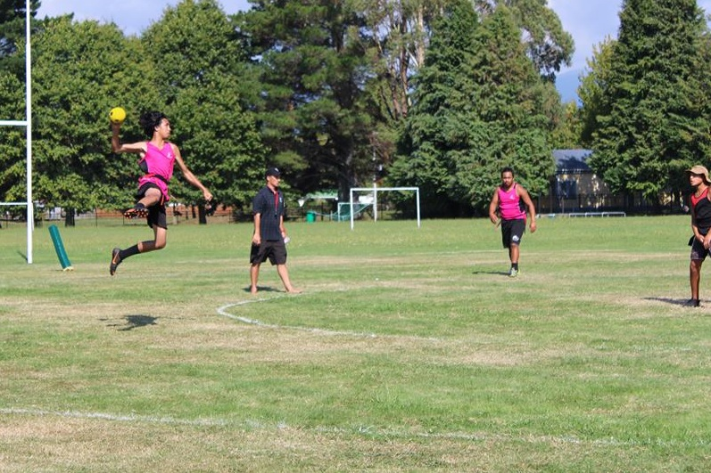 2019 Tuwharetoa Secondary School Ki o Rahi Regionals - Ngapuke Jump Shot v Hirangi