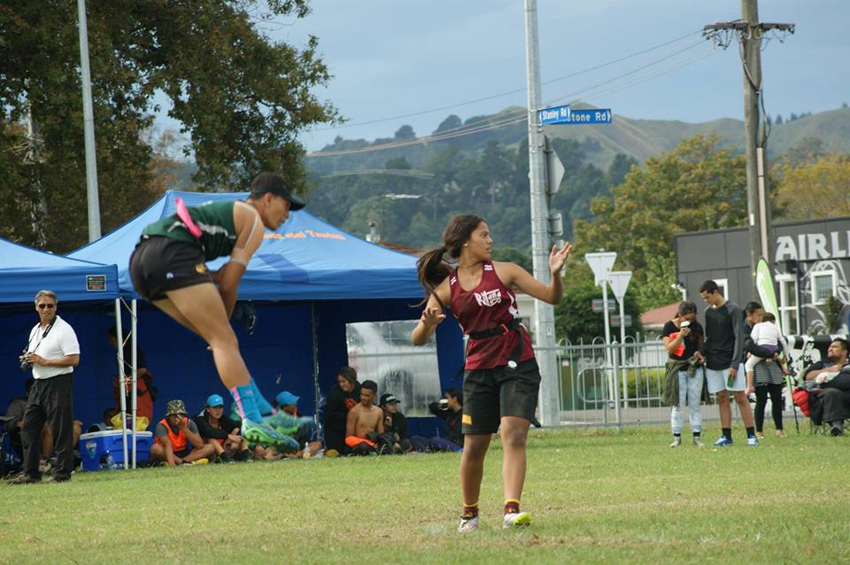 2015 NZ Secondary School Nationals - Gisborne - Iasiah Harrington-Bartlett playing for Taita College