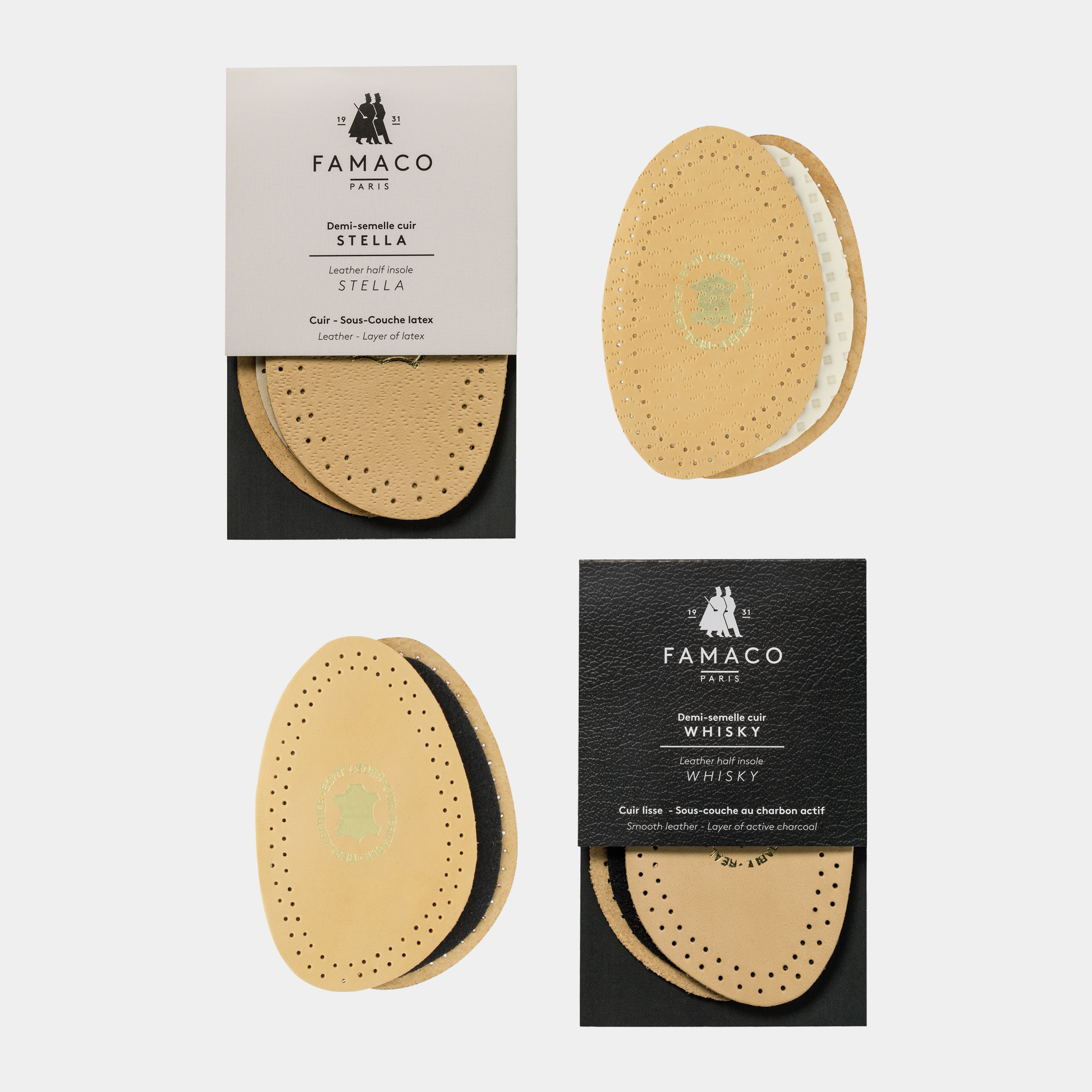 ½ LEATHERS INSOLES
