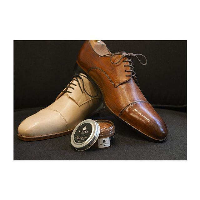 🇫🇷 : La plus belle des pièces montées 🍰 🇬🇧 : Stack it up - Un dégradé de bruns construits avec notre crème de beauté chez @lecalceophile. #famacoparis #madeinfrance #leathercosmetics #leather #cuir #chaussures #shoes #shoeslovers #entretienducuir #art #shadesofbrown