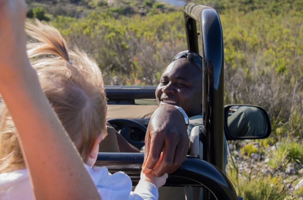 Private game drive with children