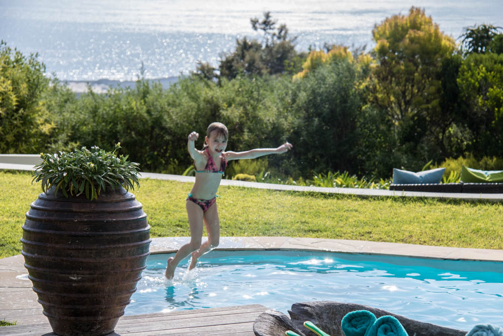 Pool with a view at Grootbos
