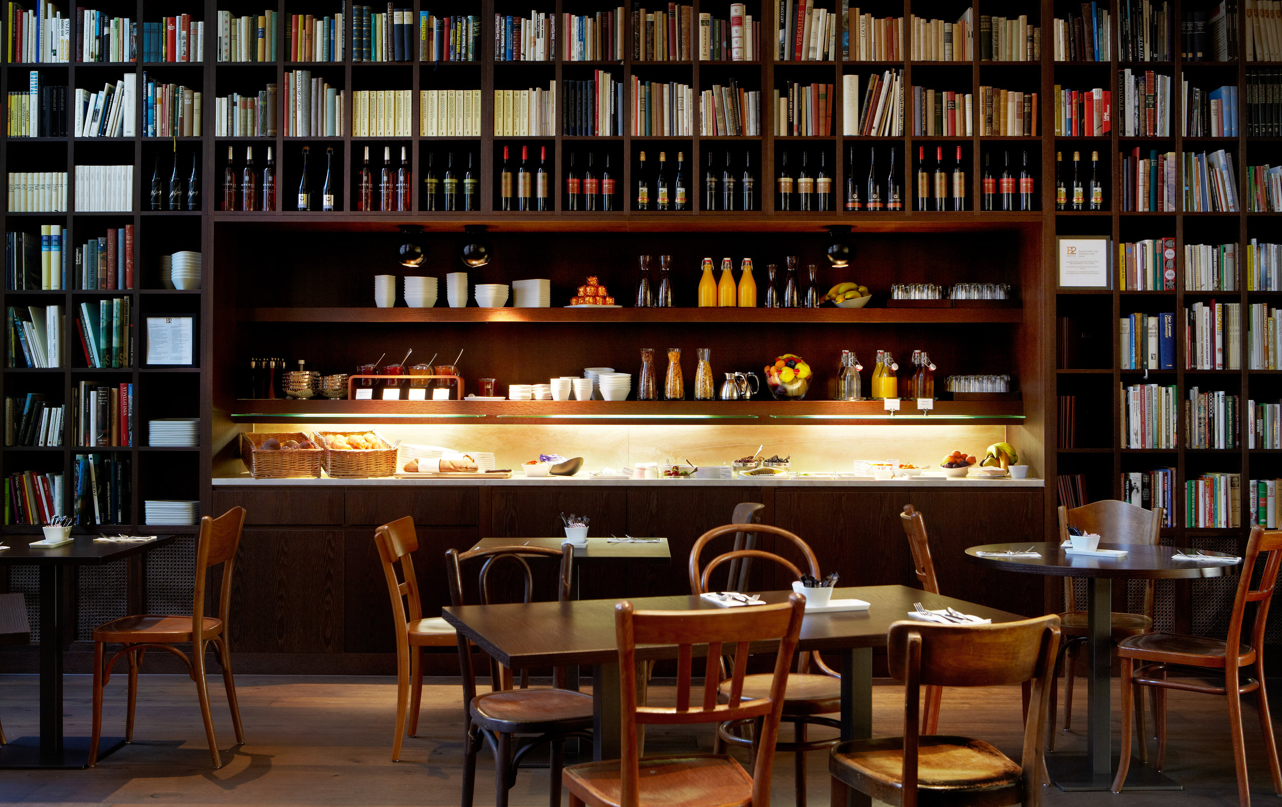 B2 Boutique Hotels + Spa_buffet breakfast at wine library.JPG