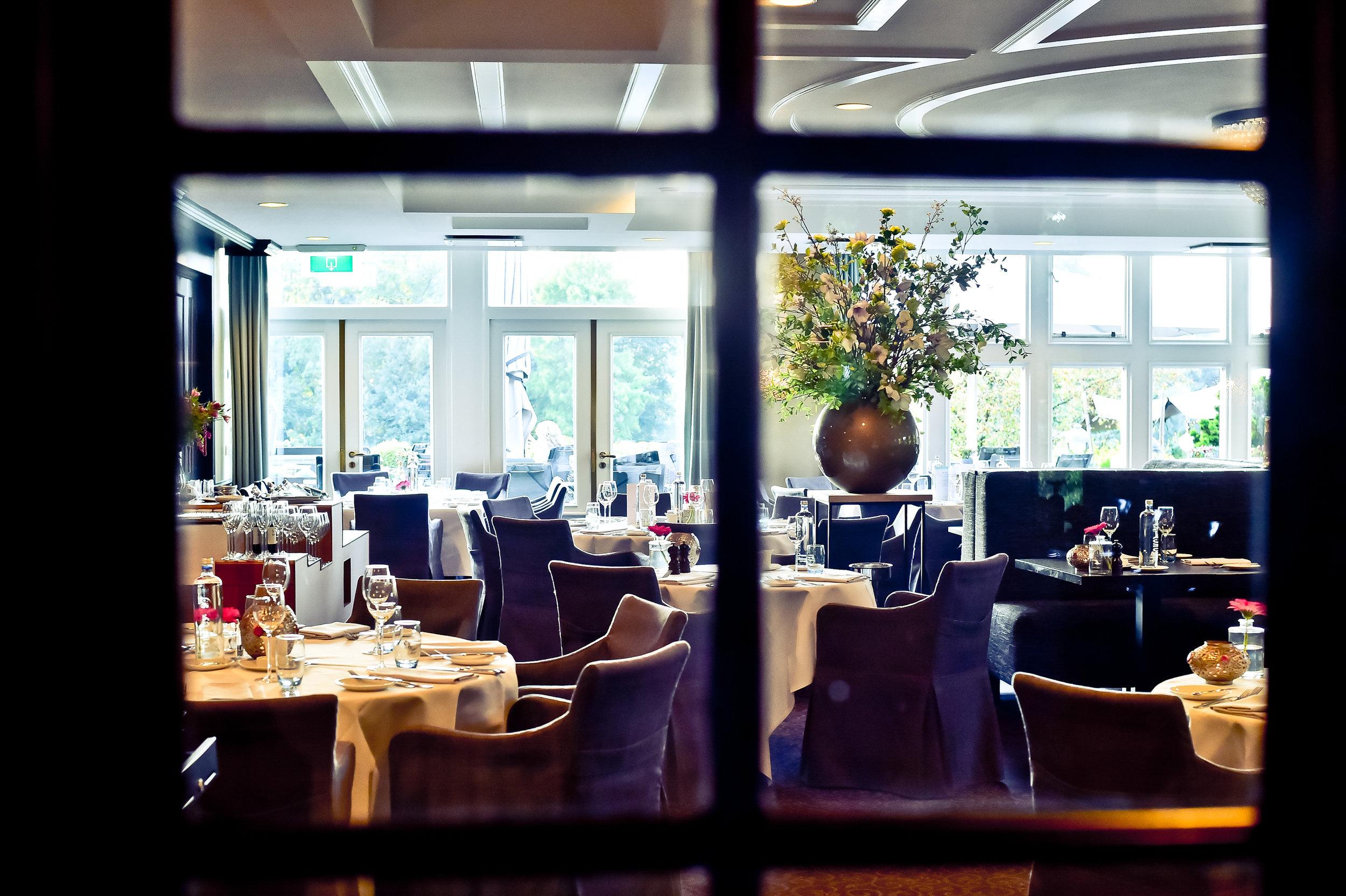 Glimpse of the restaurant