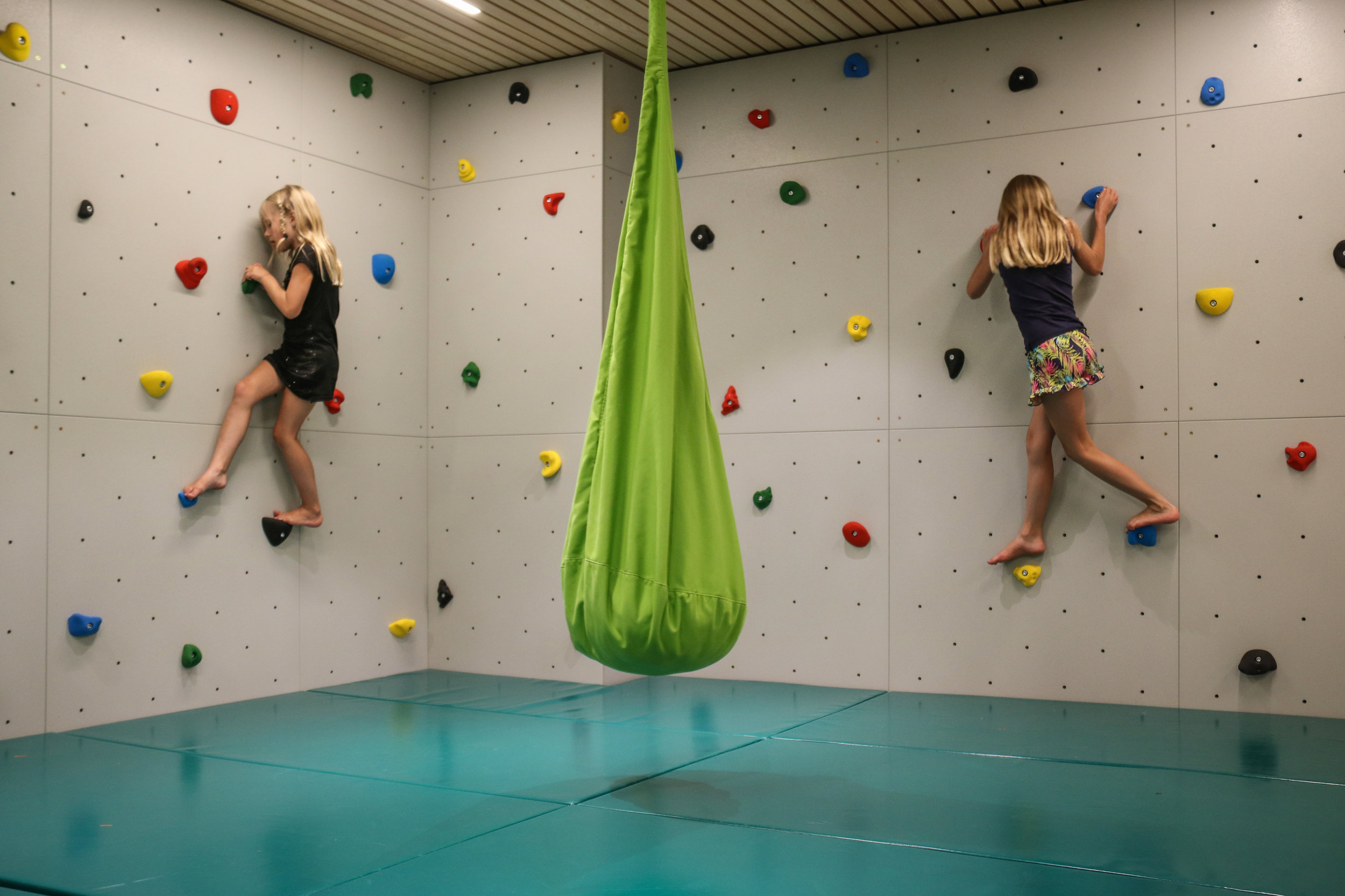 Even a climbing opportunity indoor