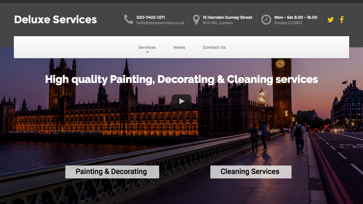DeluxeSevices.co.uk by Newland Web