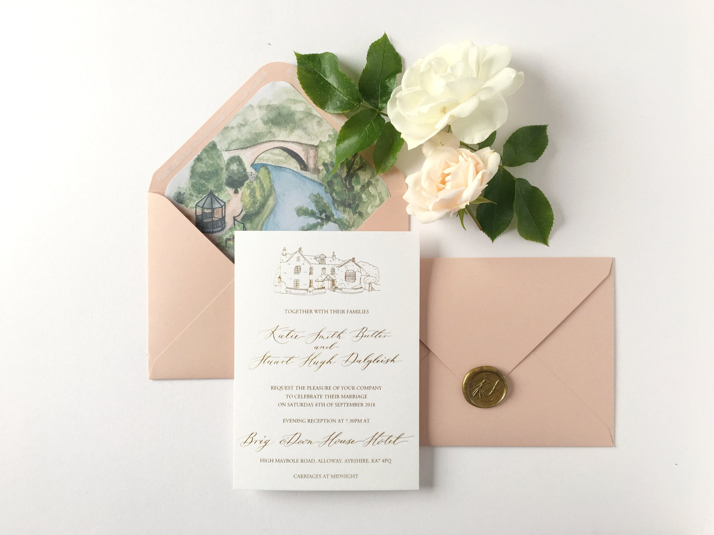 Custom Invitations with Calligraphy