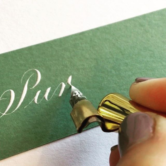 I thought since my stories have just been about my sister's dog these last couple of days, I better show you some calligraphy! 😆 This is normal writing speed with Copperplate Calligraphy and I am using a hunt 101 nib, moblique penholder and my pure white ink, all available to purchase through my online shop. #copperplatecalligraphy #calligraphy #calligraphyvideo #whitecalligraphy #takeprideinpenmanship #flourishconfidently #weddingcalligraphy #scottishcalligraphy #scottishcalligrapher