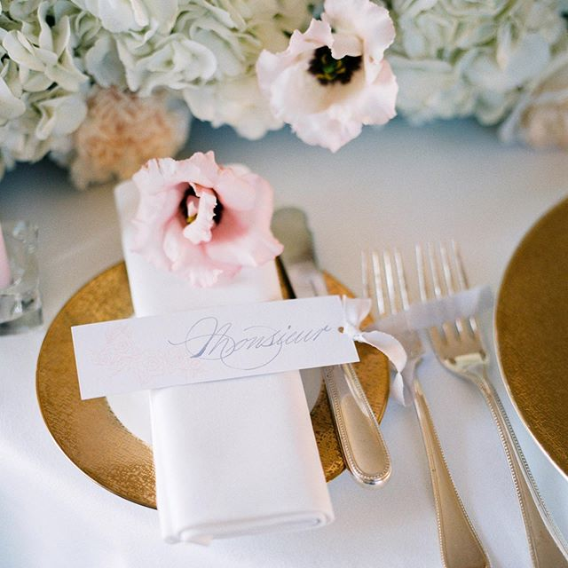 Simple, soft and elegant table setting for a Paris Elopement. Swipe for more photos.  Photography @clairemorrisphotography  Venue @shangrilaparis  Wedding Planner @etvoilaweddings  Calligraphy & Invitations @jlcalligraphy  Flowers @lilypalomaflowers  #weddingcalligraphy #elopement #pariselopement #calligraphy #vowbooklet #weddinginvitations #placecard #ribbon #ribbonplacecard #invitations #pariswedding #scottishcalligrapher #weddinginspiration #weddinginspo