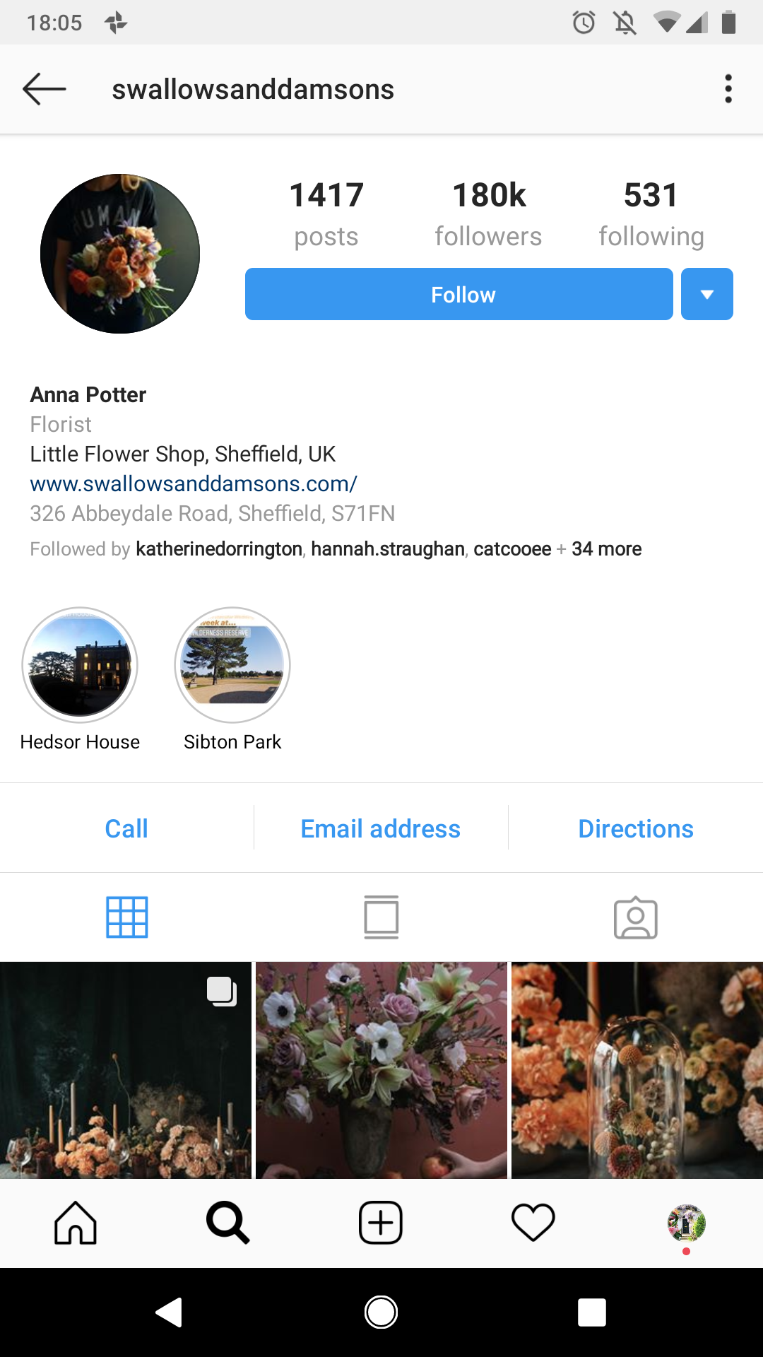Swallows and Damsons Instagram
